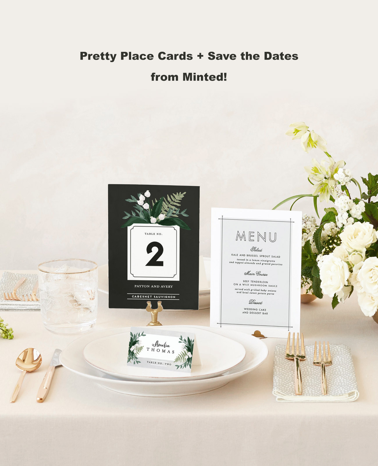 Minted Place Cards and Save the Dates