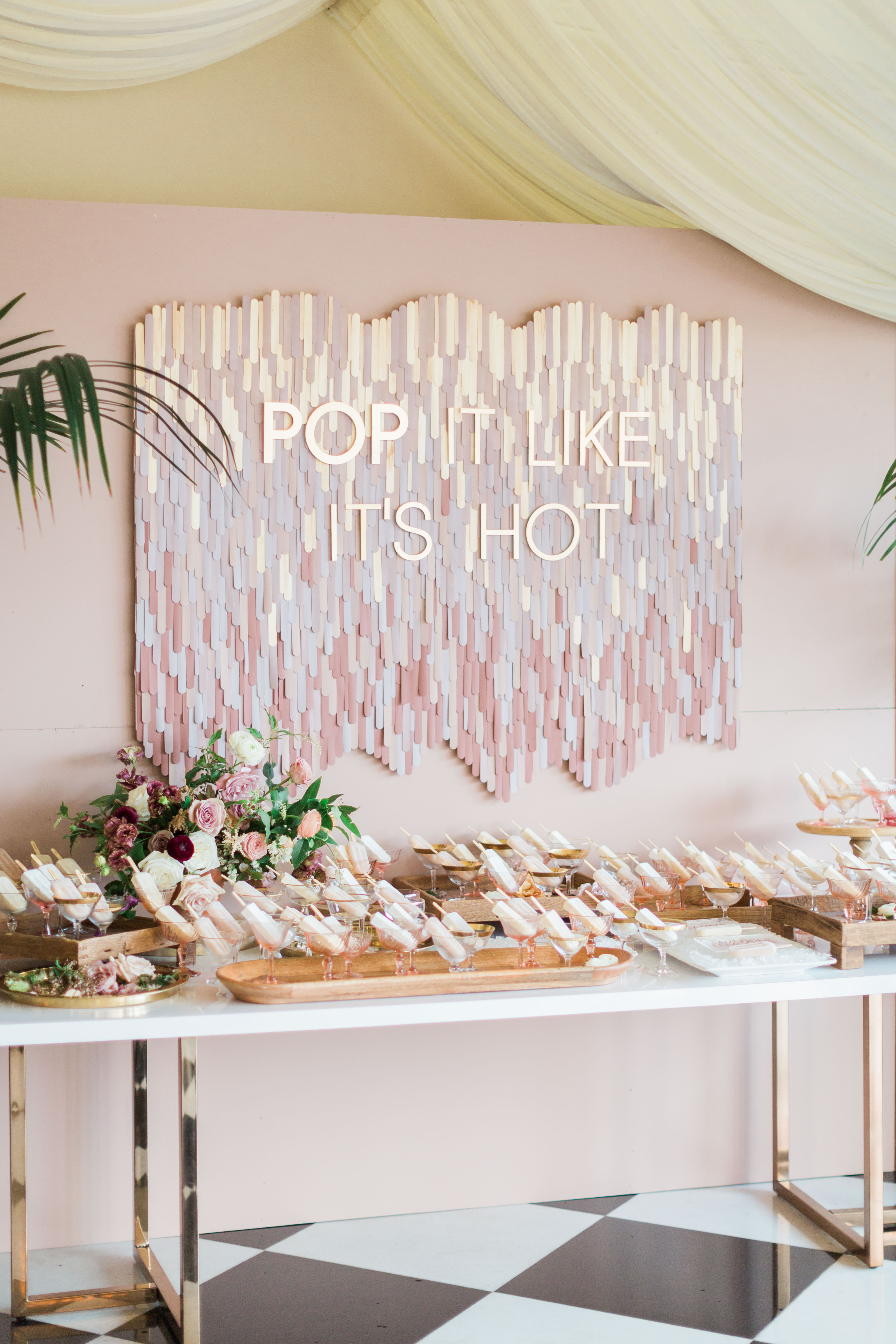 Punny Popsicle Escort Card Display