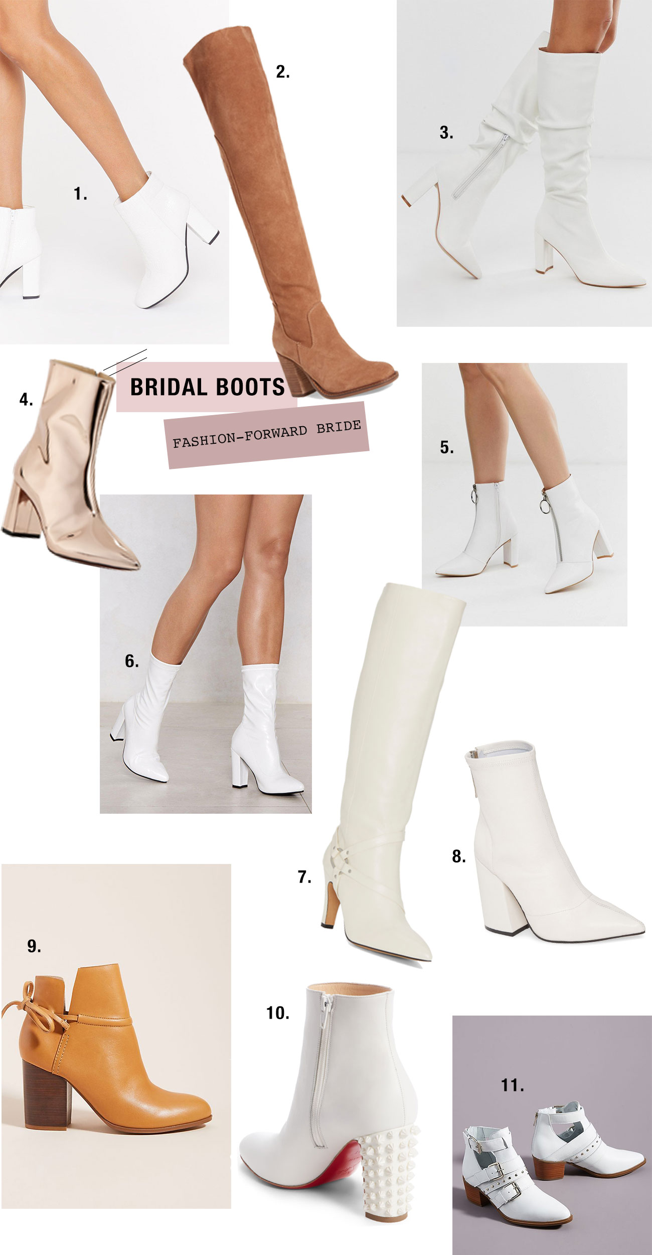 bridal boots for the fashion-forward bride