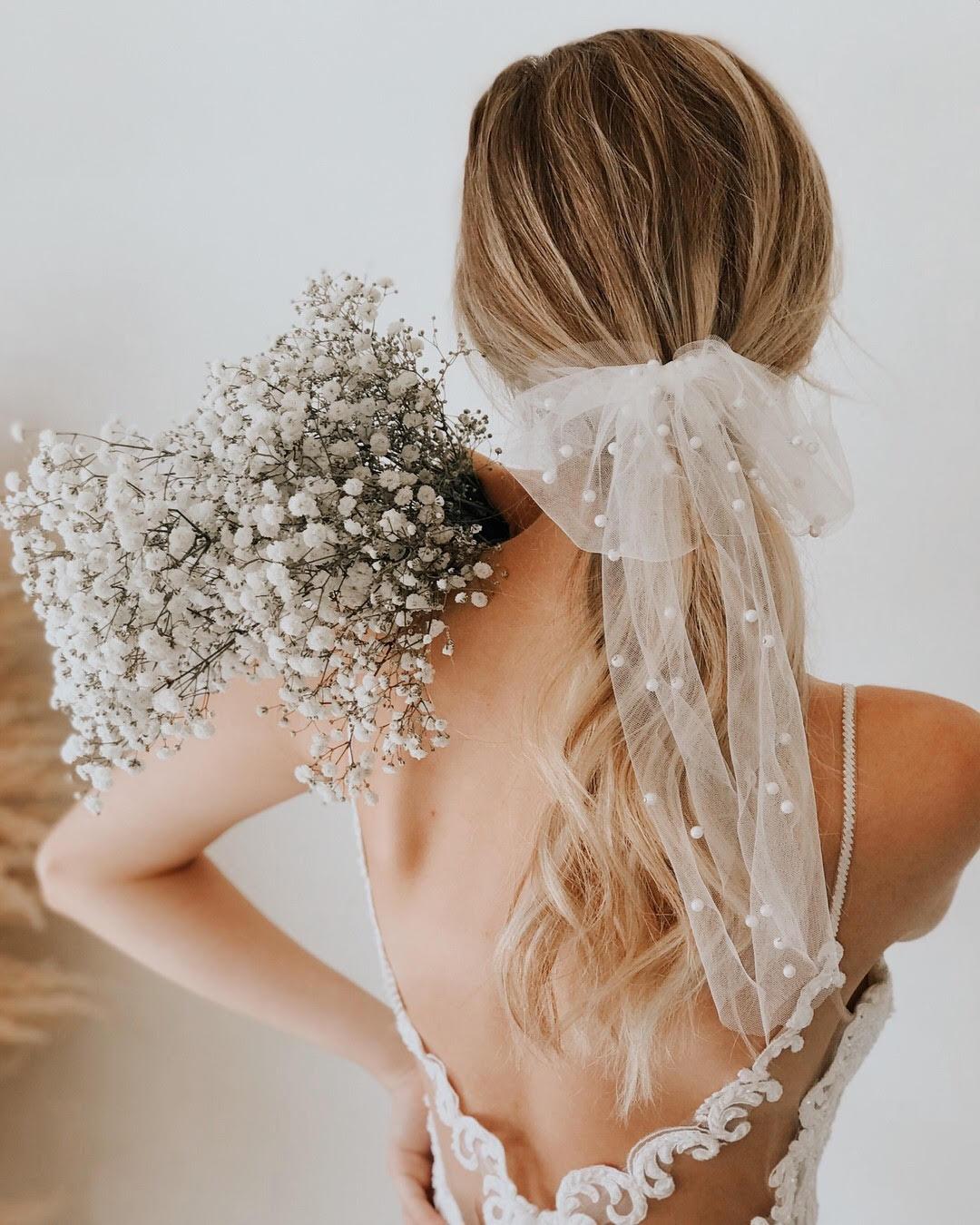 Untamed Petals bridal hair bow