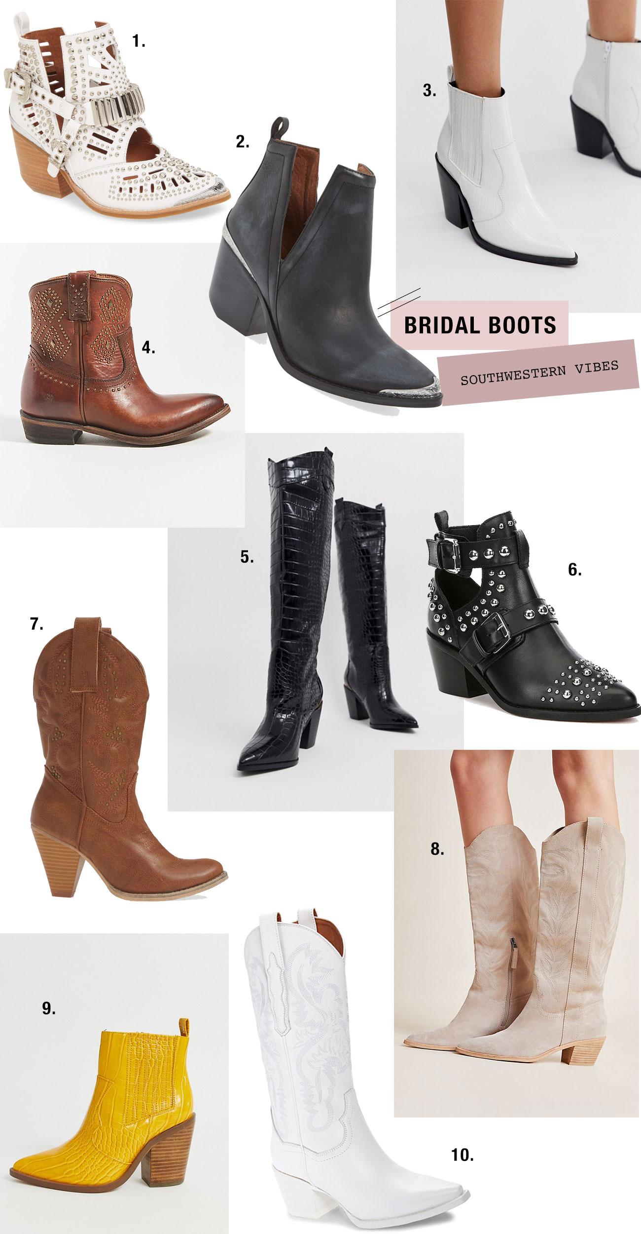 western bridal boots #southwestern #westernbride