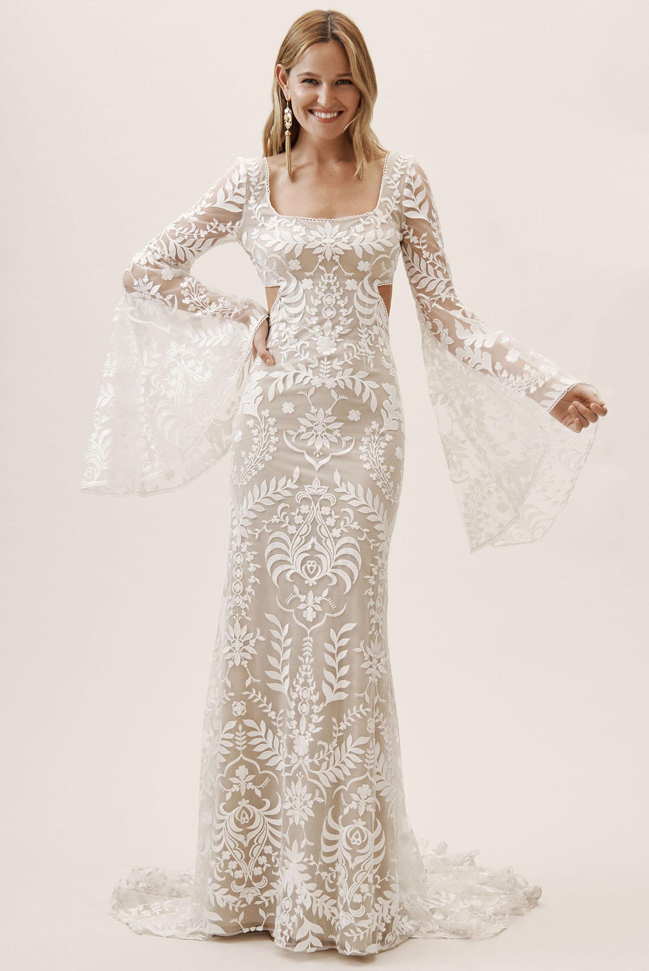 Bhldn Goes Bohemian See The Boho Wedding Dresses Our Free Spirits