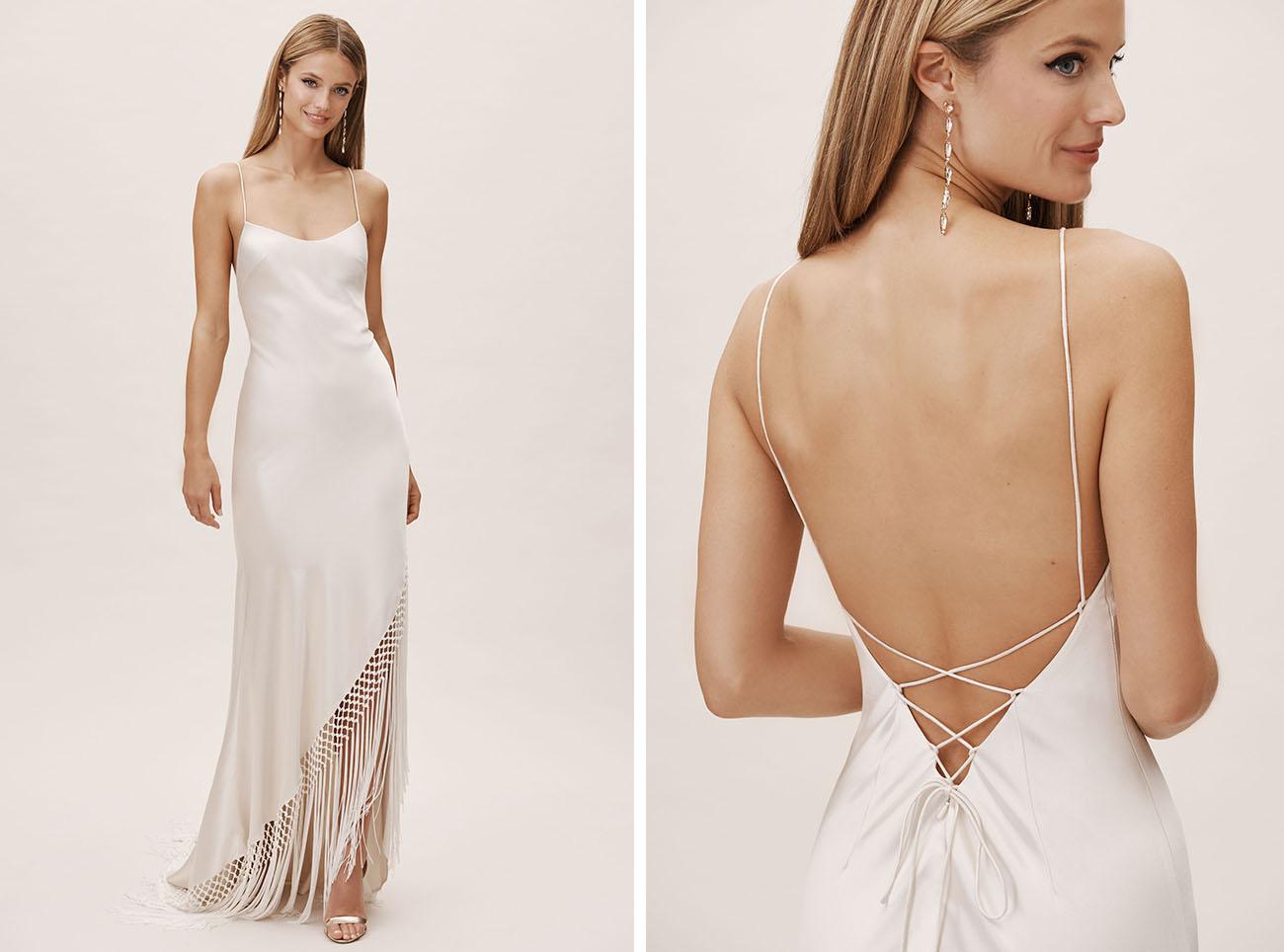 BHLDN Fringe Wedding Dress