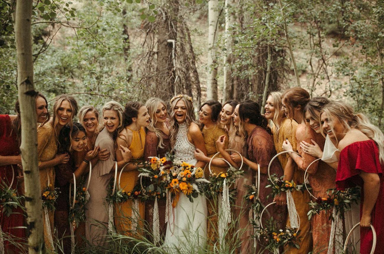 Fall inspired bridesmaids