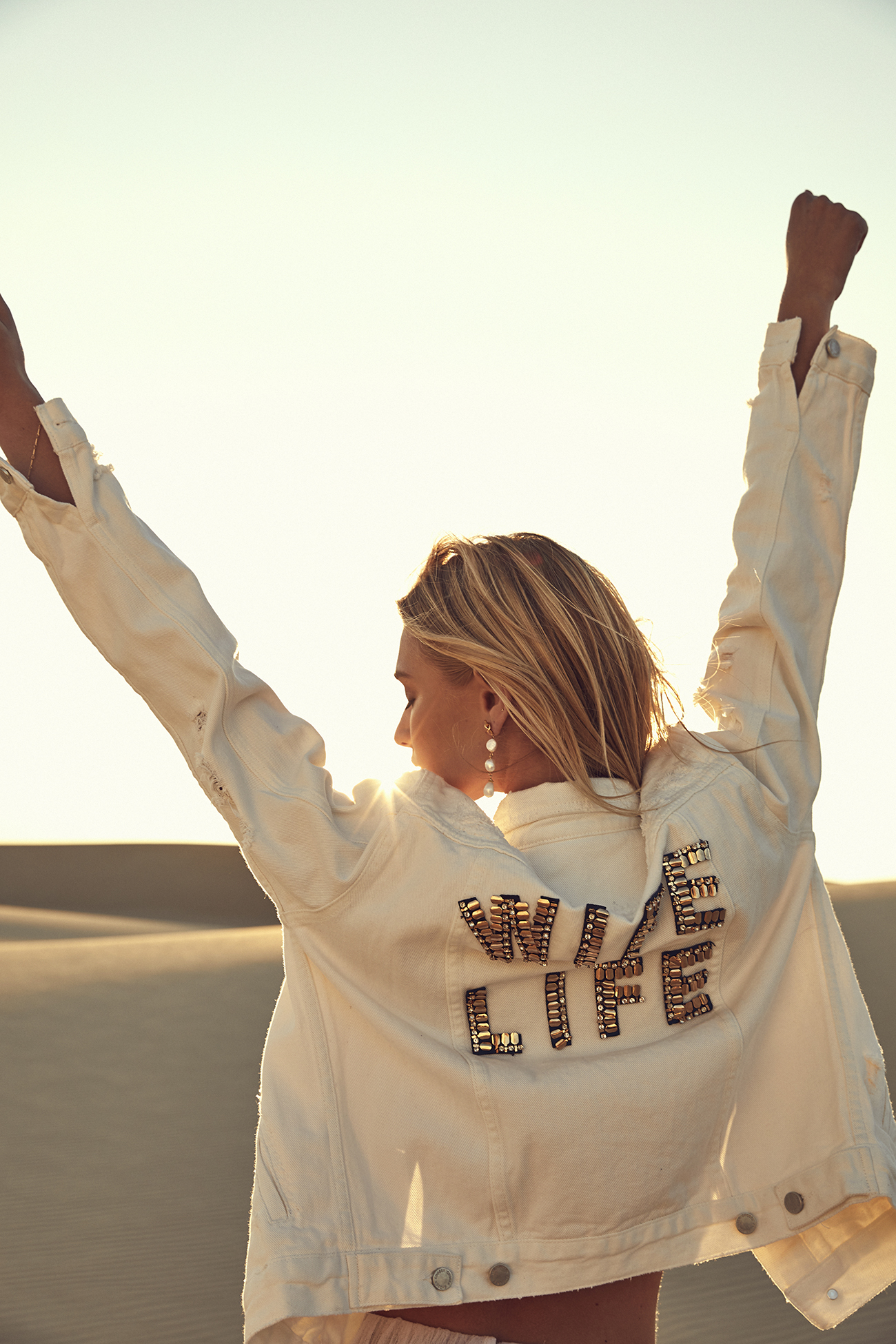 Wife Life bridal jacket from CHOSEN by One Day Desert Rose Collection