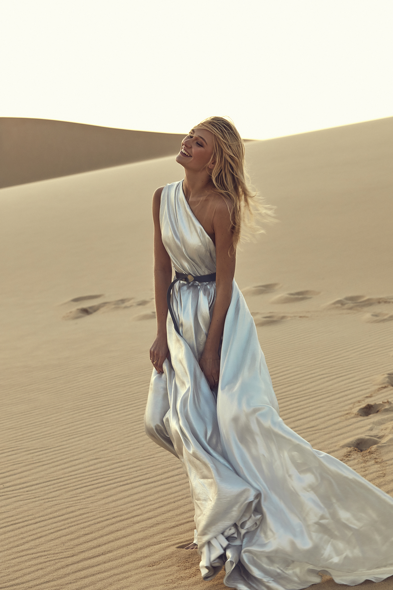 silver wedding dress from CHOSEN by One Day Desert Rose Collection
