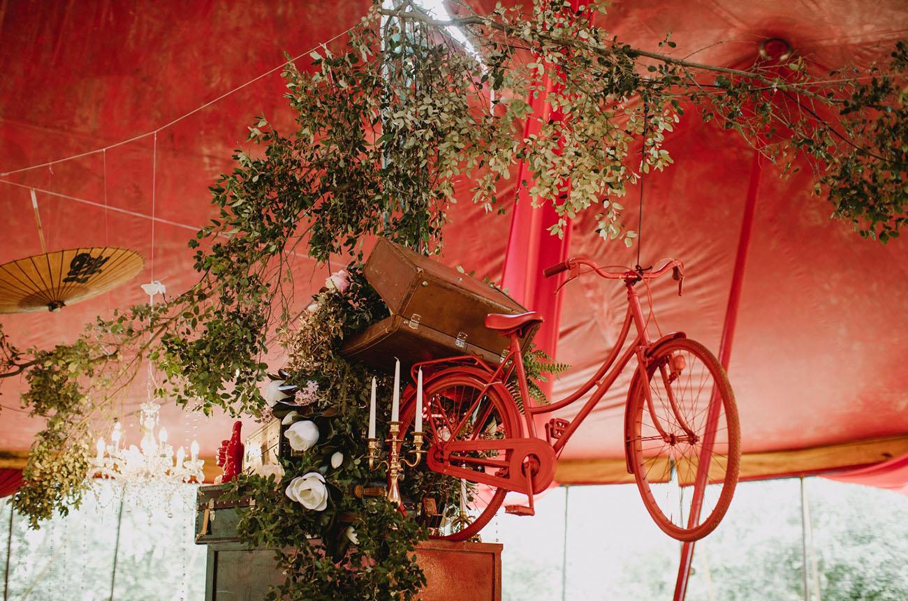 hanging bicycle