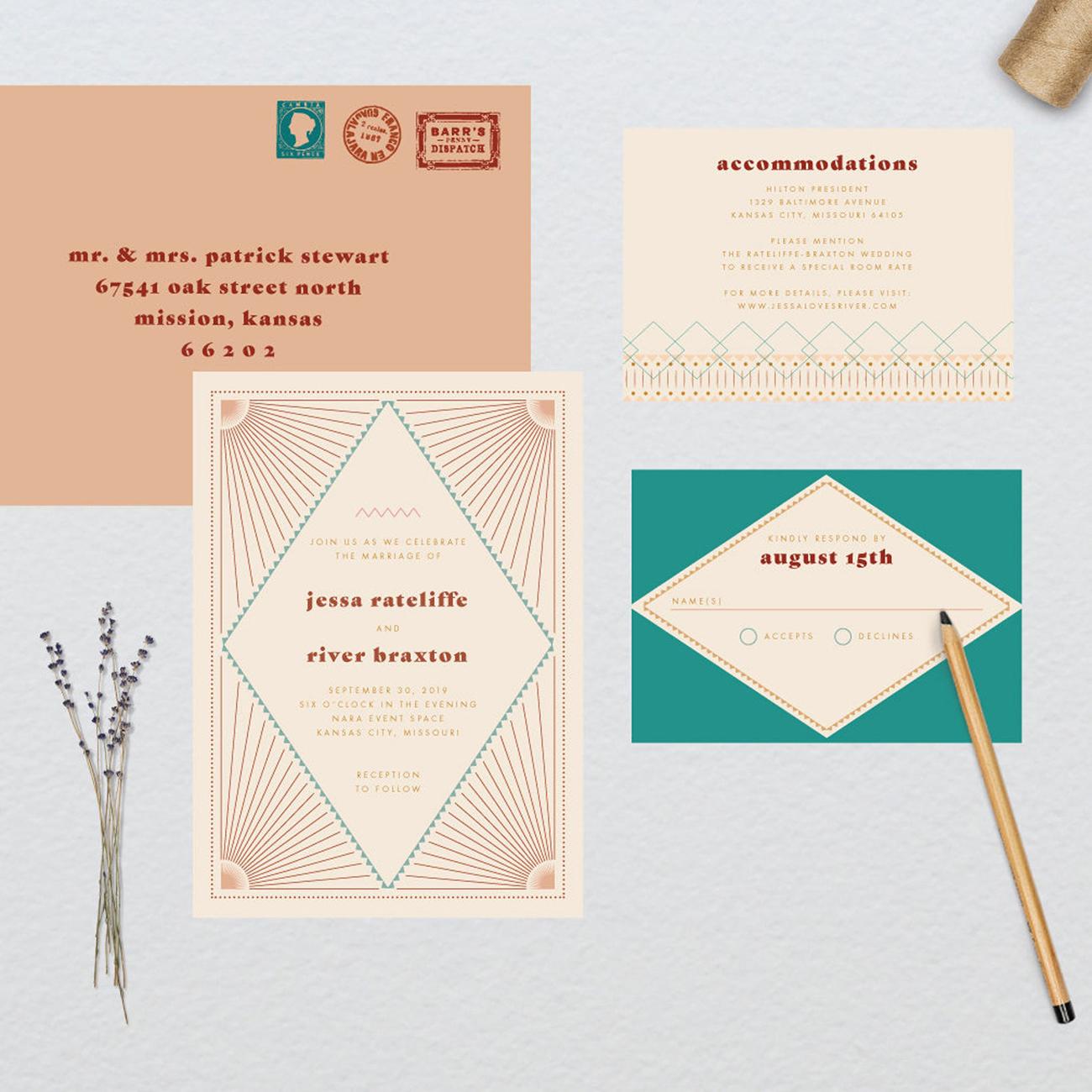 etsy southwestern sunset wedding invitation