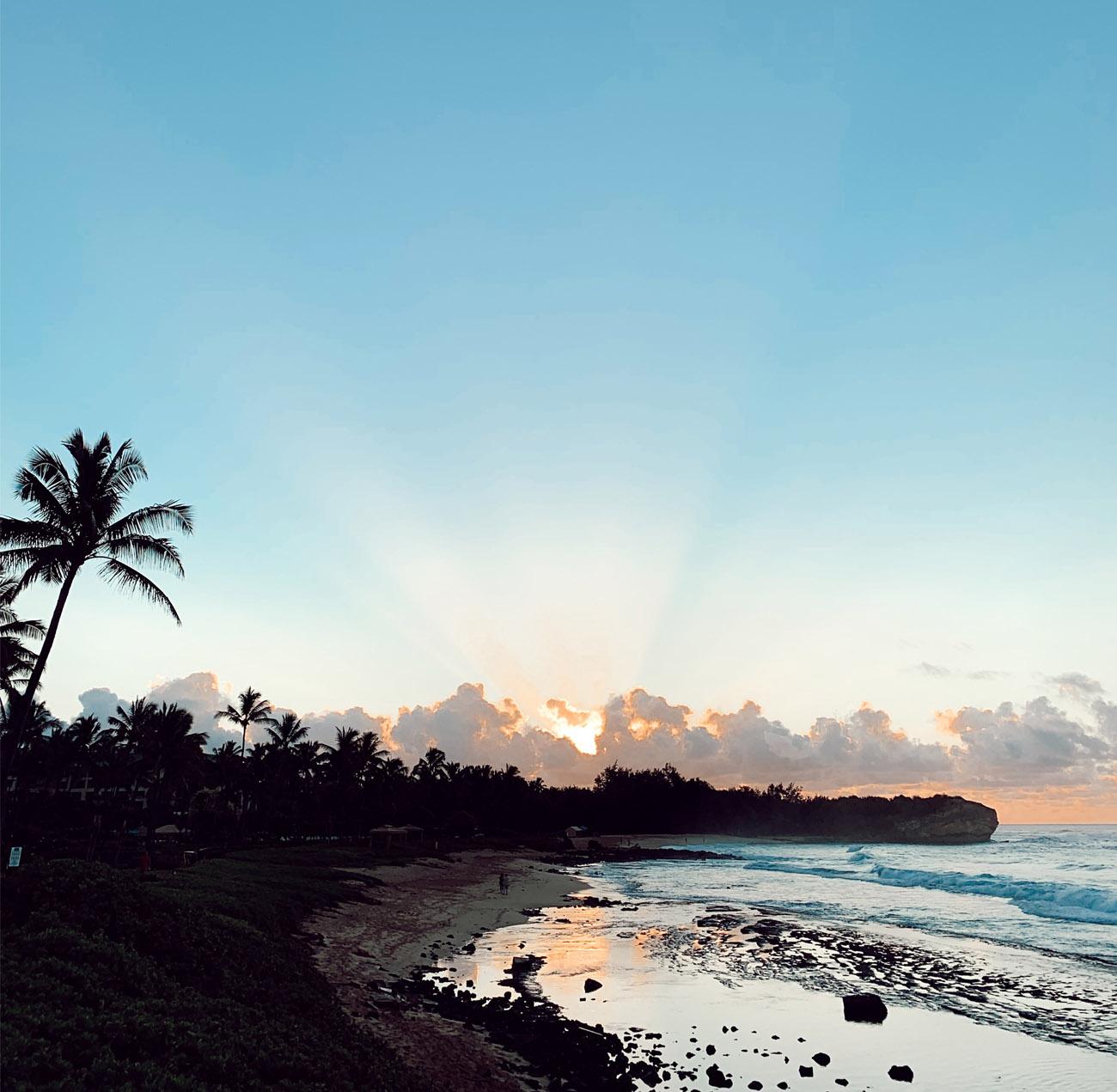 Sunrise in Kauai at the Grand Hyatt Resort & Spa in Kauai