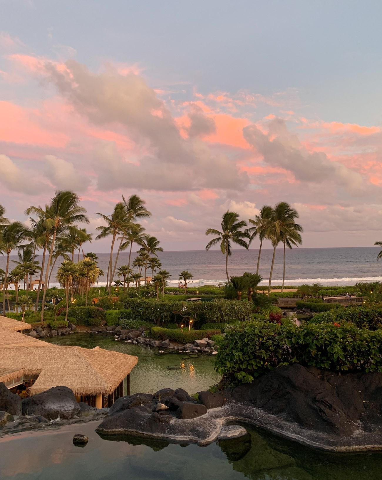 Sunset in Kauai at the Grand Hyatt Resort & Spa in Kauai