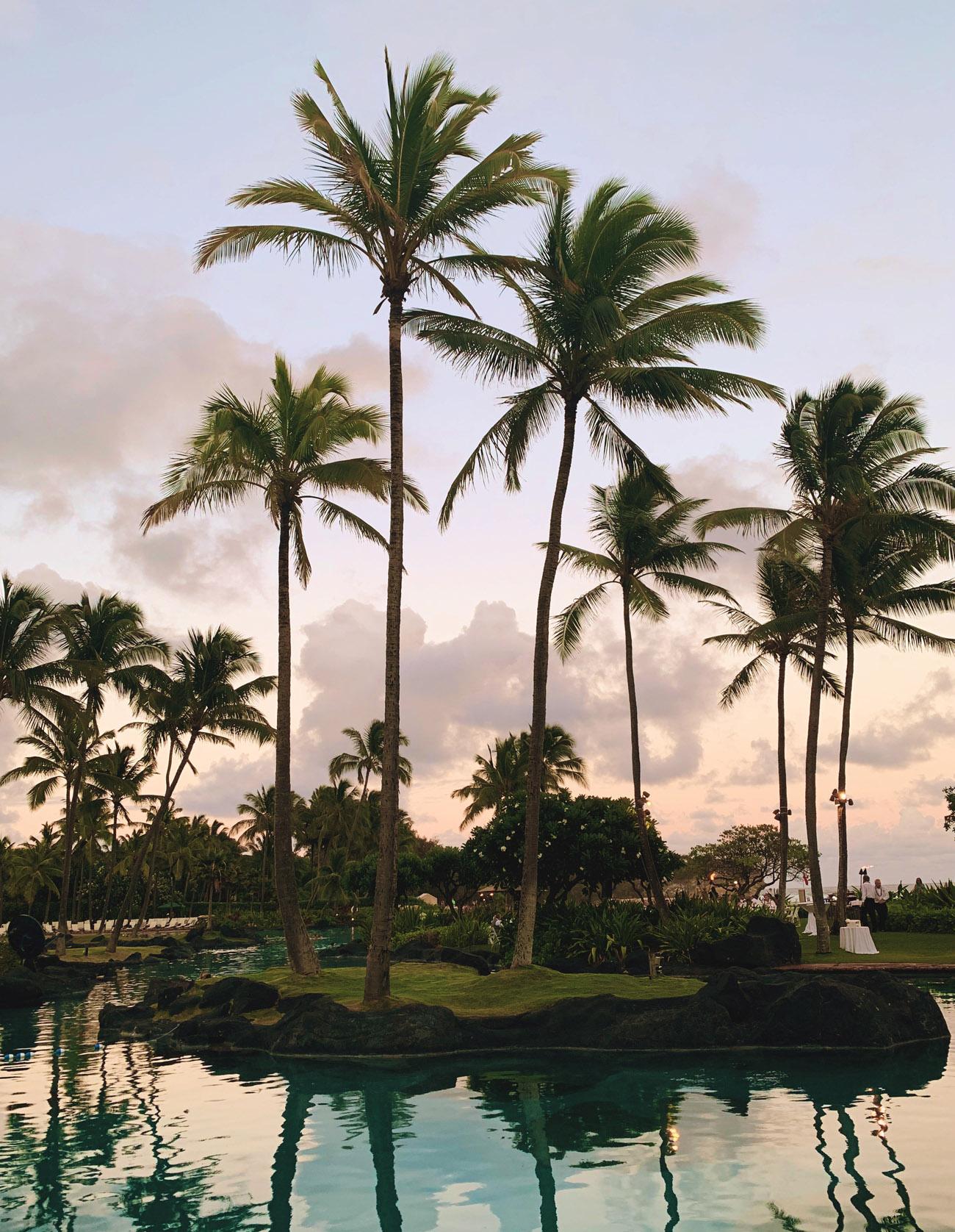 Sunset at the Grand Hyatt Resort & Spa in Kauai