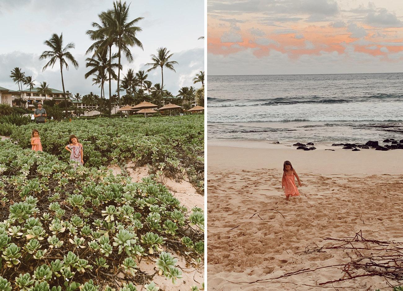 The beach at the Grand Hyatt Resort & Spa in Kauai