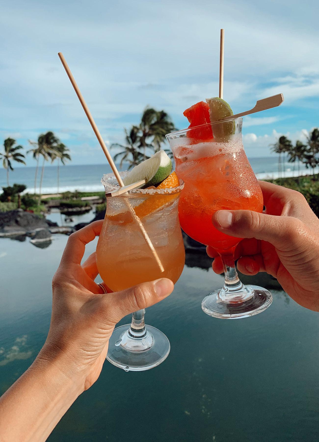Tropical Cocktails at the Grand Hyatt Resort & Spa in Kauai