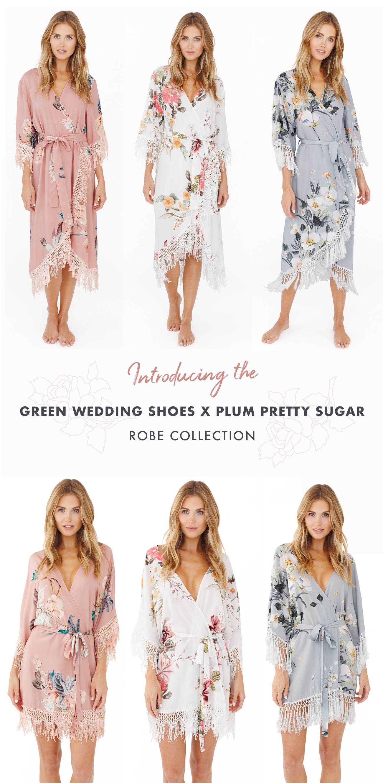 Green Wedding Shoes x Plum Pretty Sugar Robe Collection