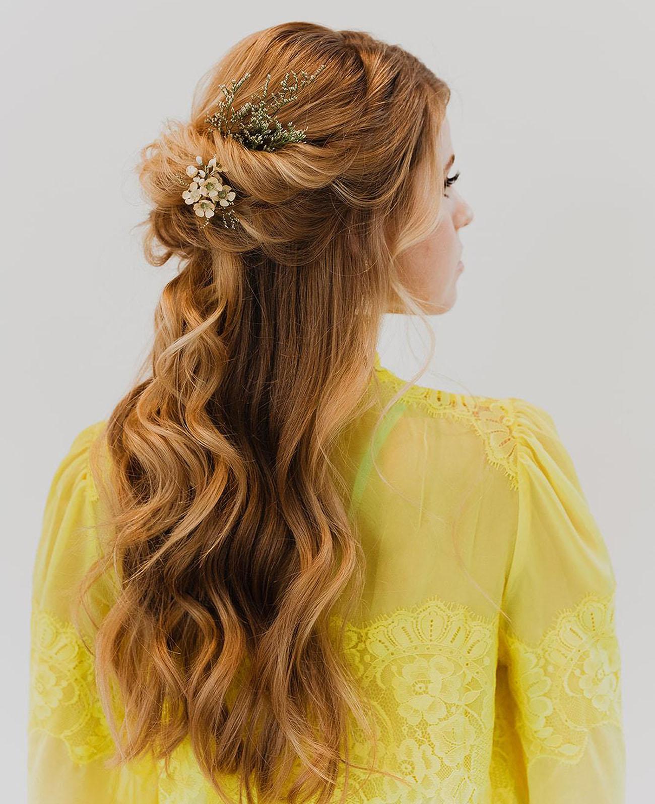 wedding hair ideas, flowers in hair, Wedding Hairstyles with Flowers