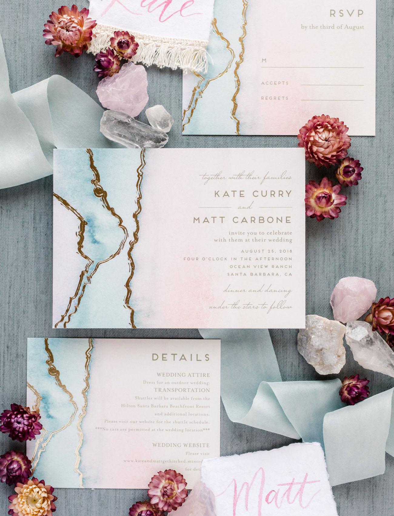 agate wedding invitation by Minted
