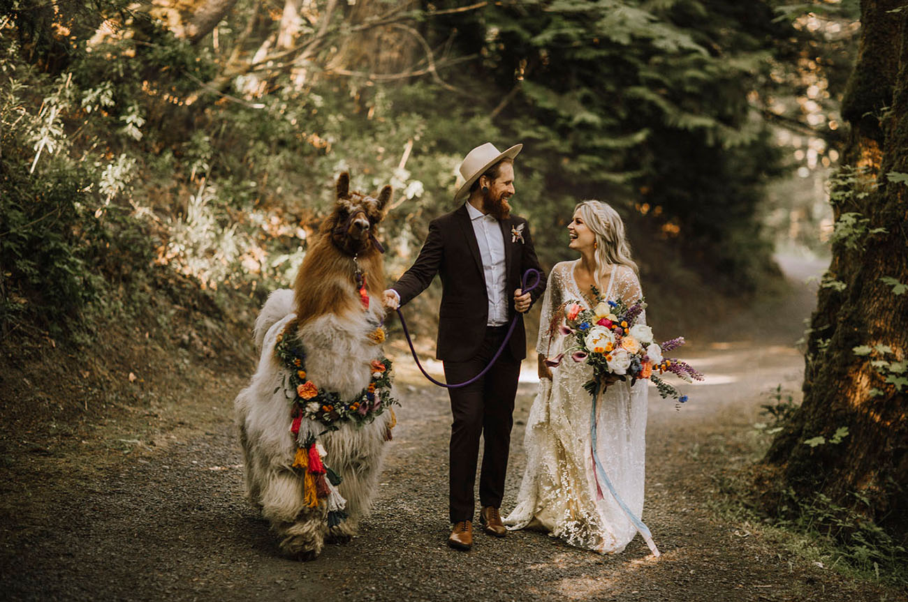 Boho Llama Wedding Inspiration