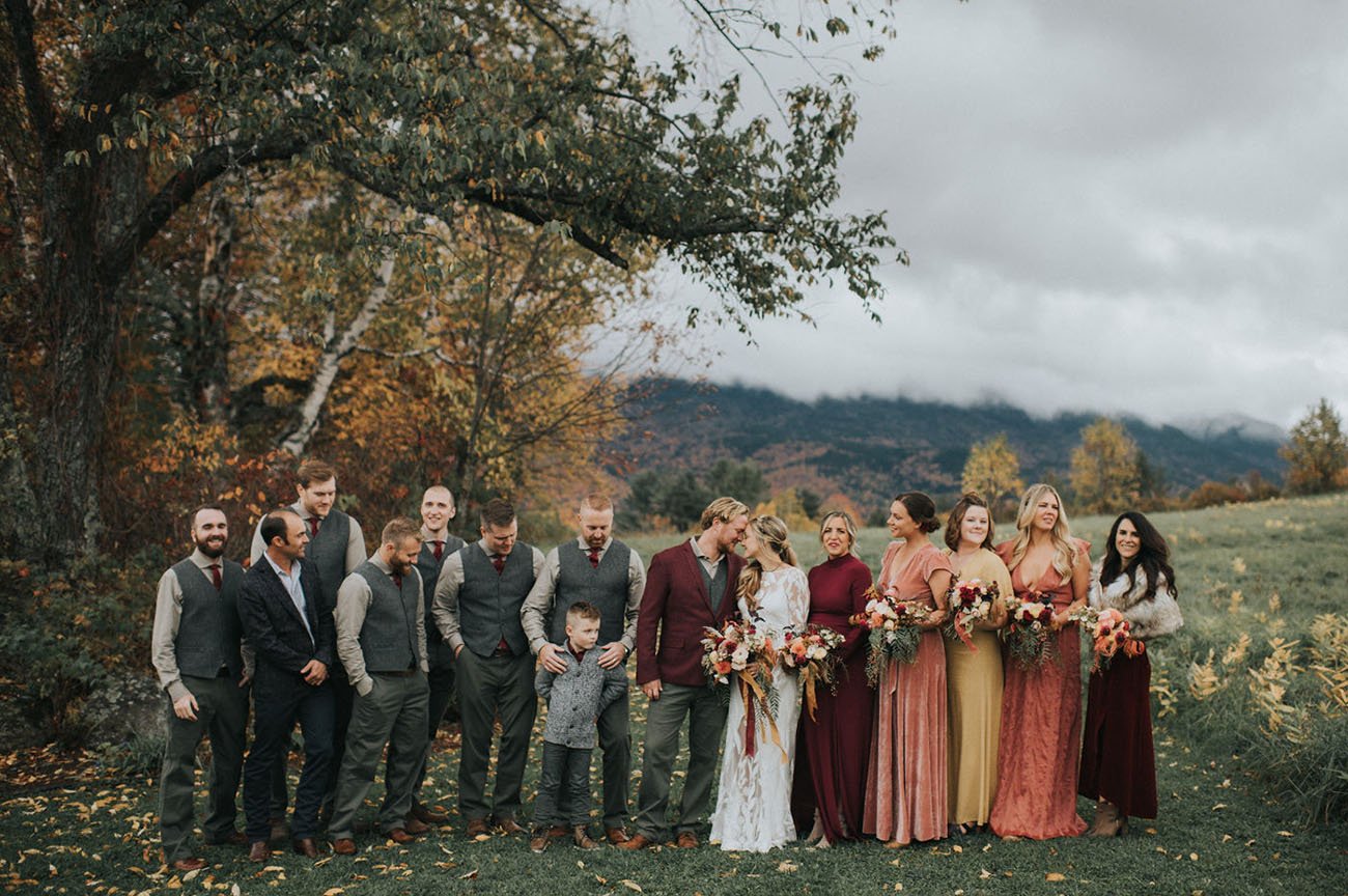 Safari Tents + Spiked Cider for This Folky Fall Wedding in the White Mountains