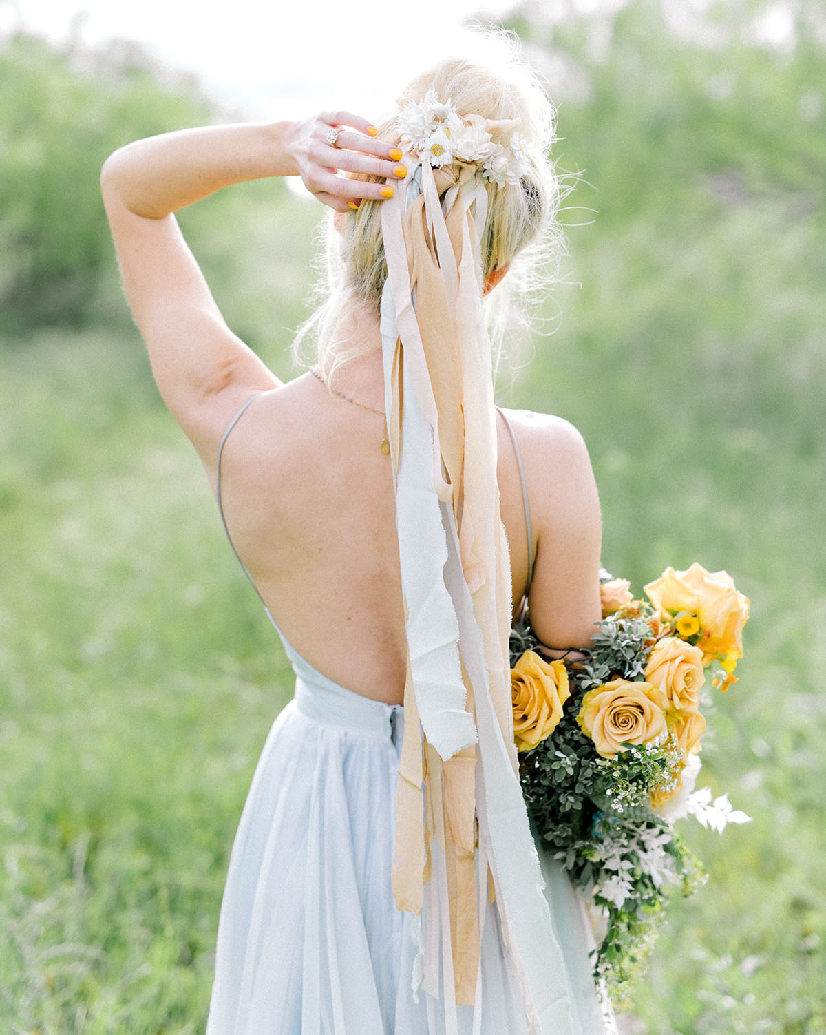 bridal hair ties