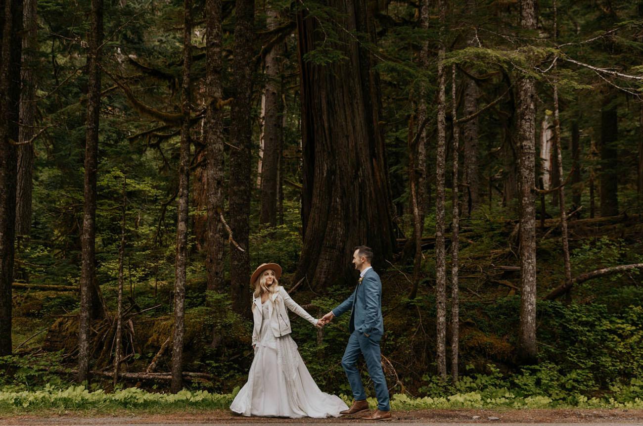 Mt. Rainier Forest Elopement