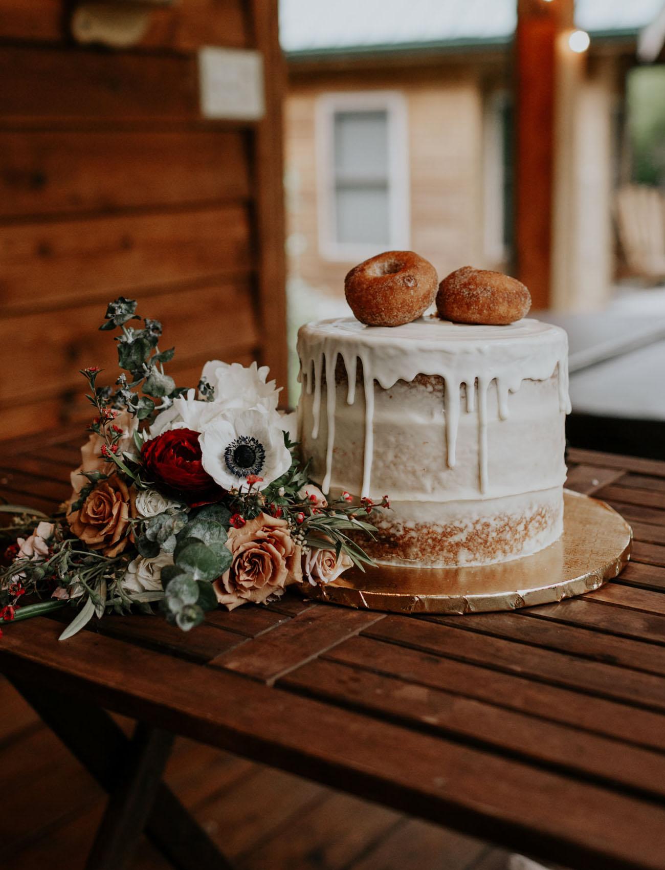 donut drip cake