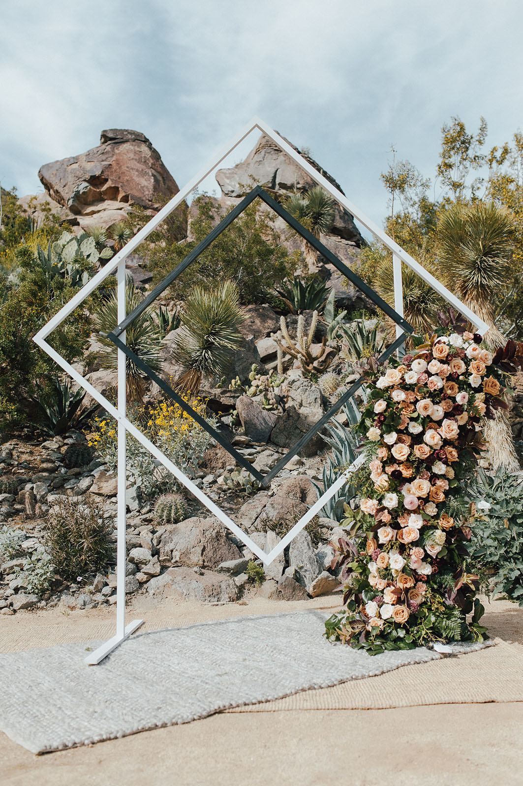 square ceremony backdrop