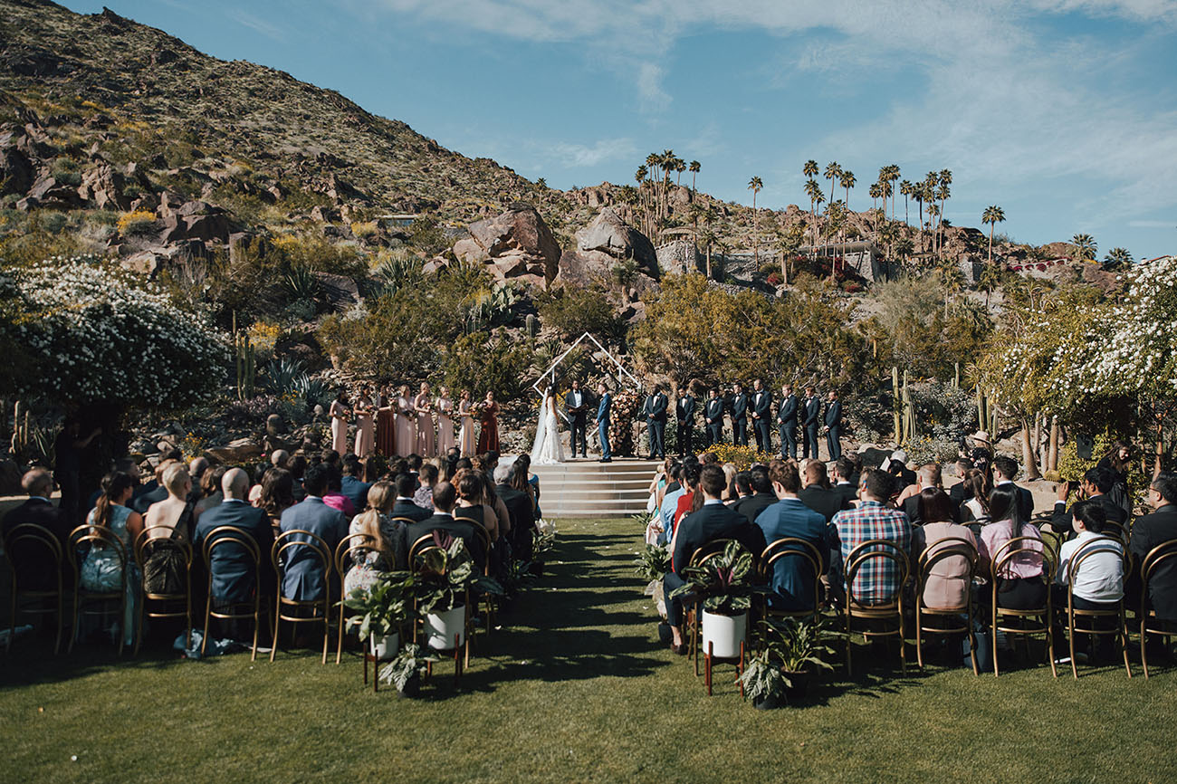 Old Hollywood Desert Wedding