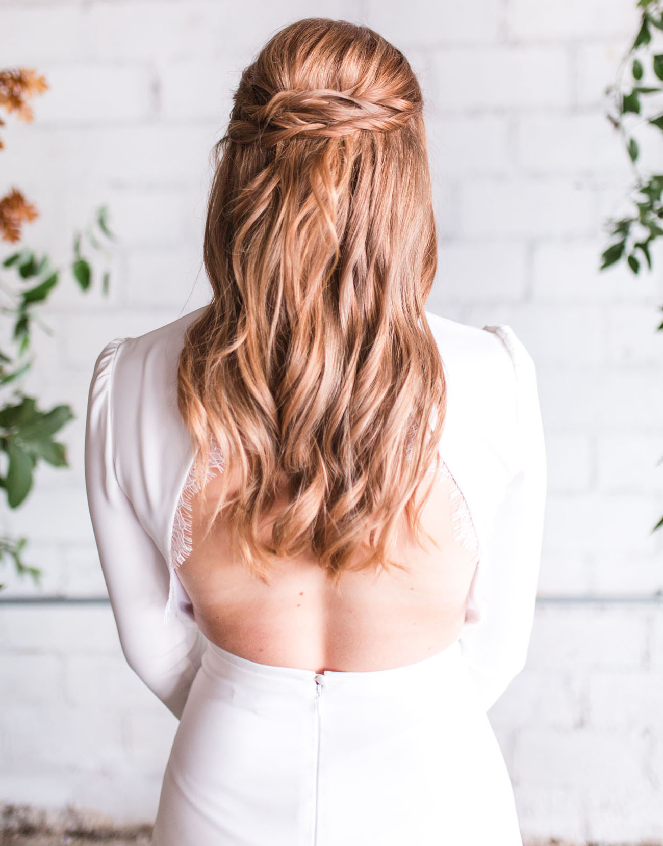 half up-do bridal hair
