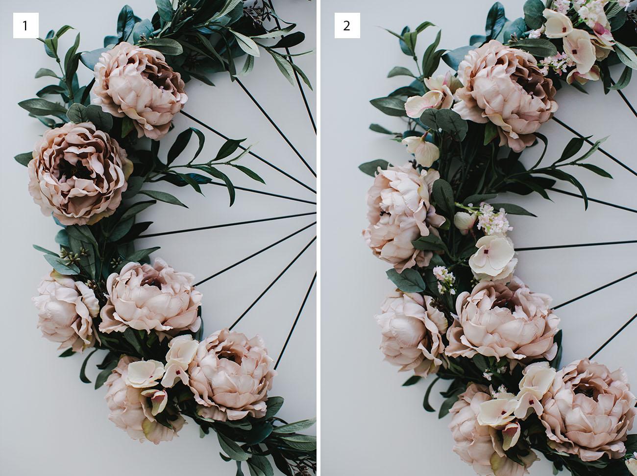 DIY Floral Wheel Garland