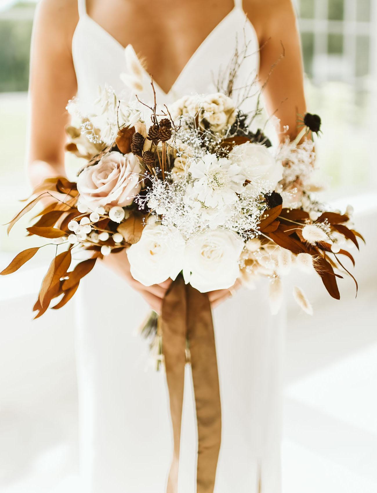 rustic boho bouquet