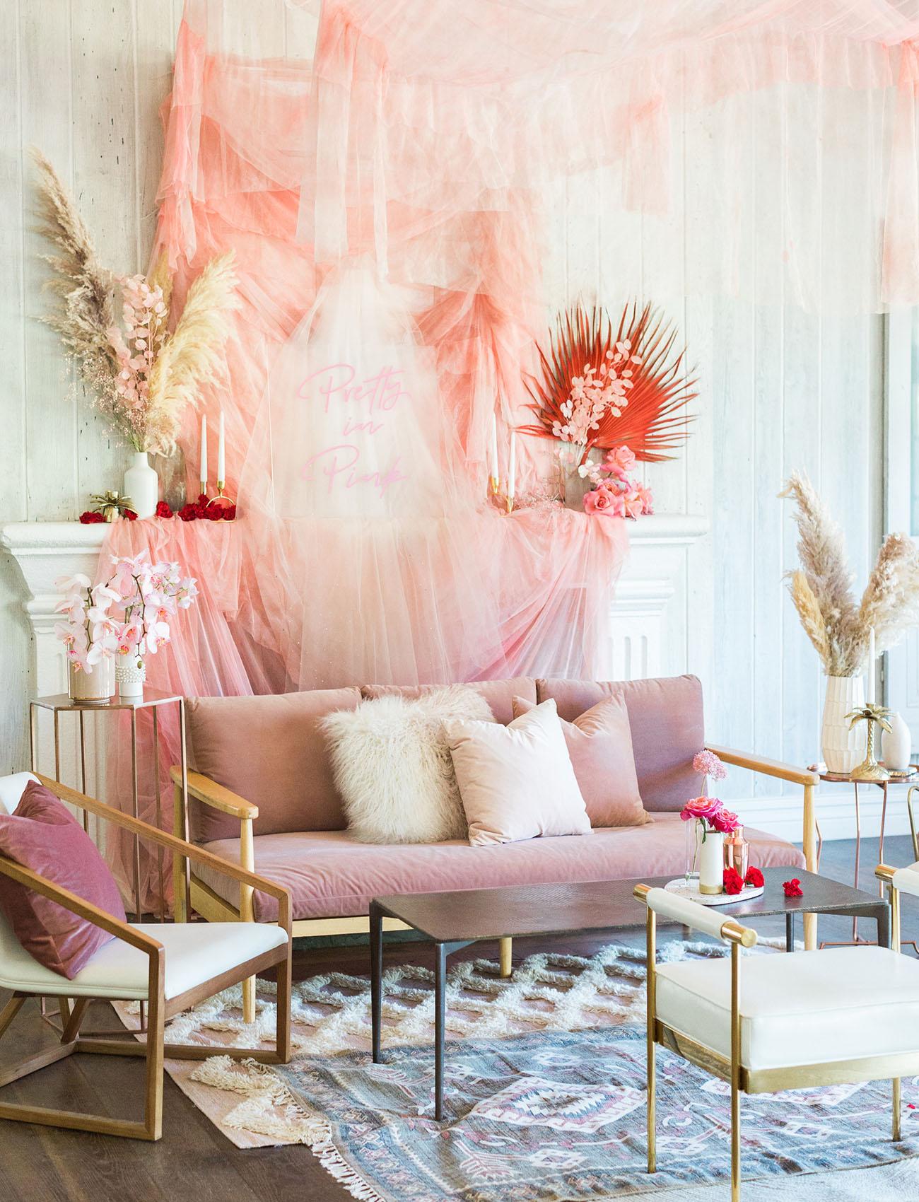 modern pink lounge