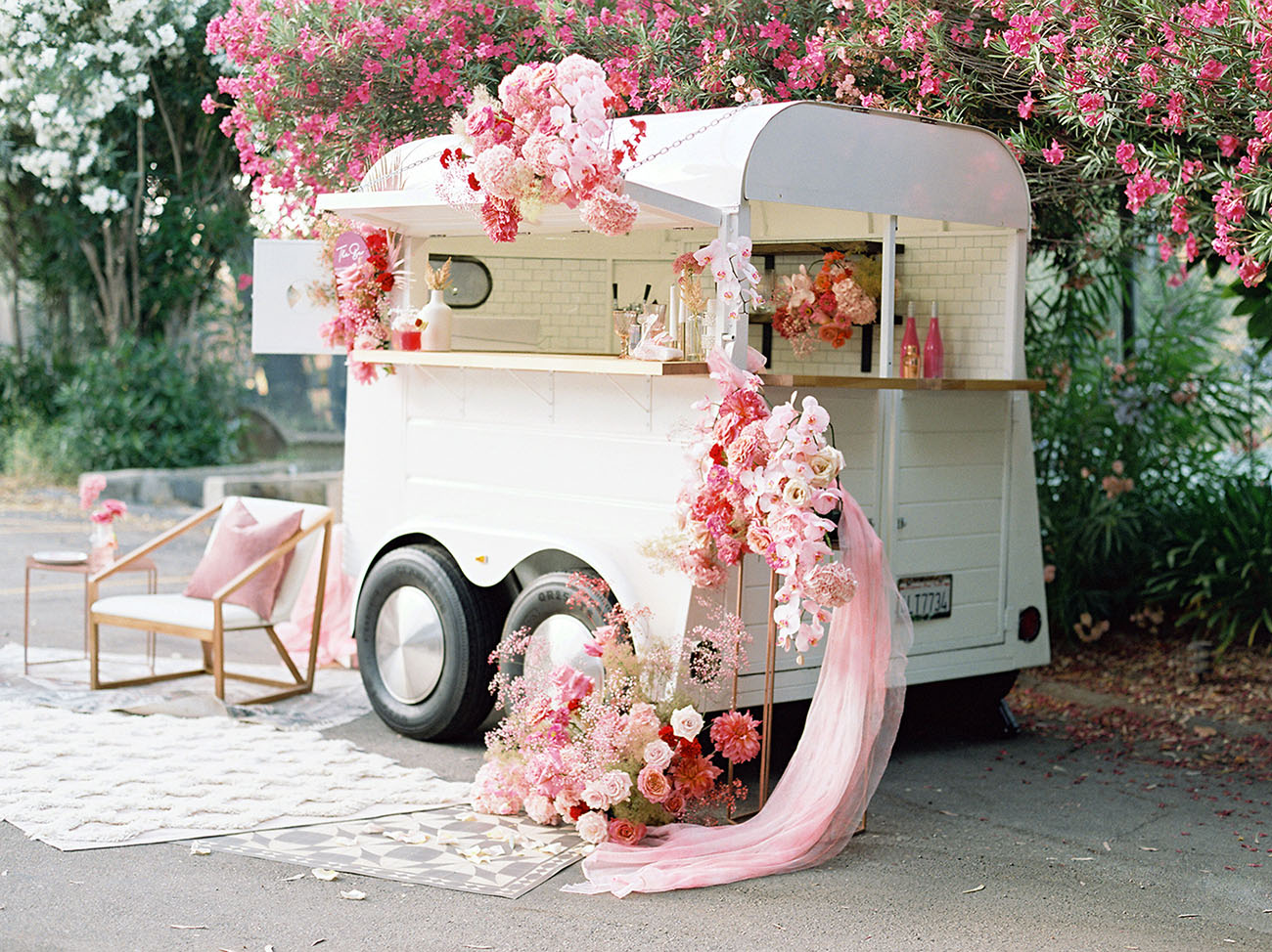 cocktail wedding trailer