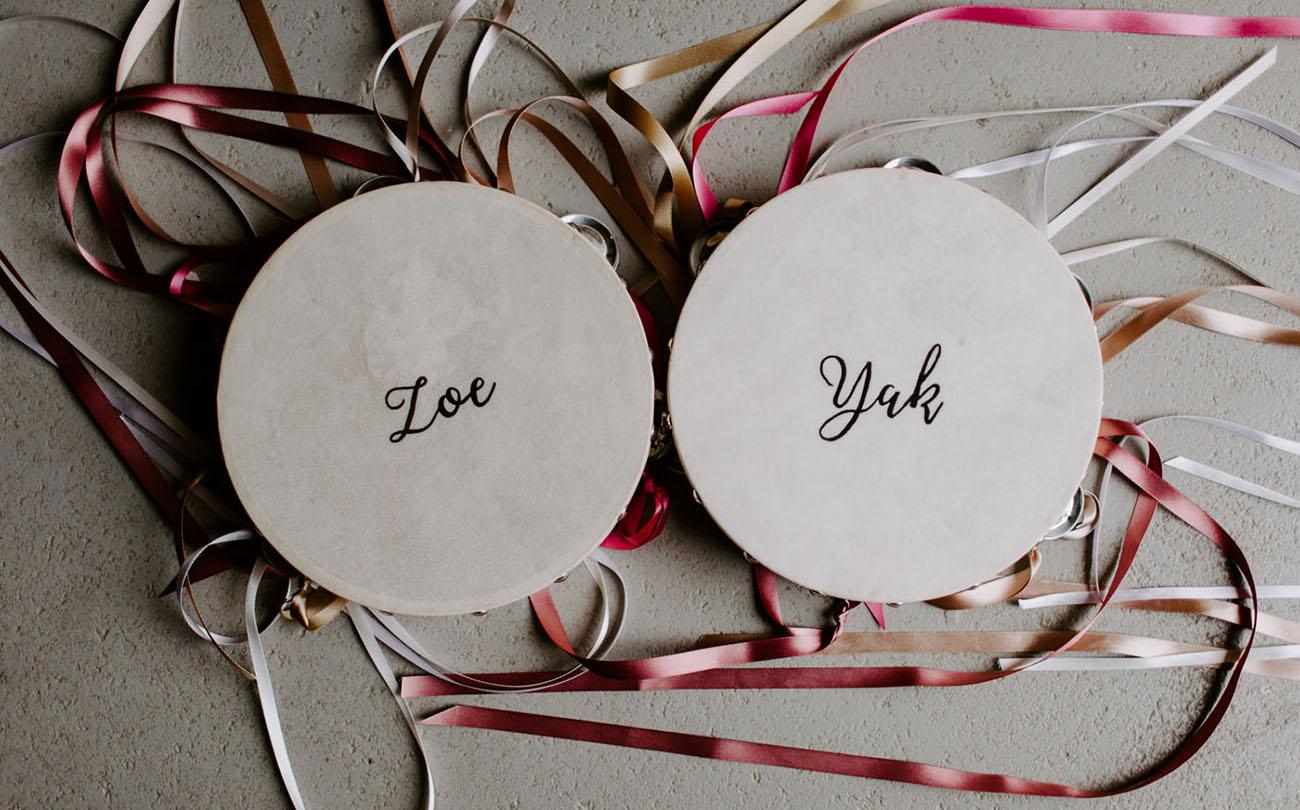 wedding tambourines