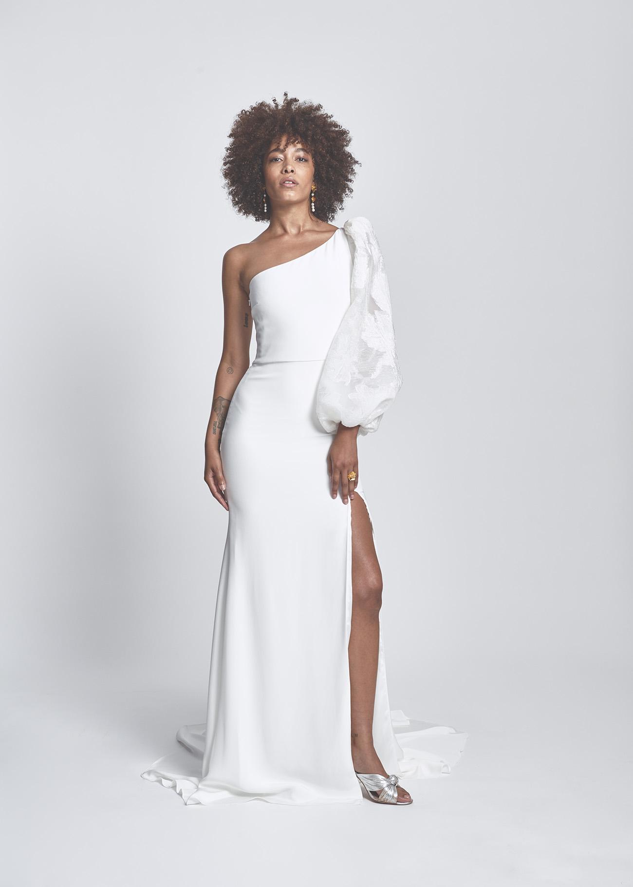 Alexandra Grecco poet sleeve gown