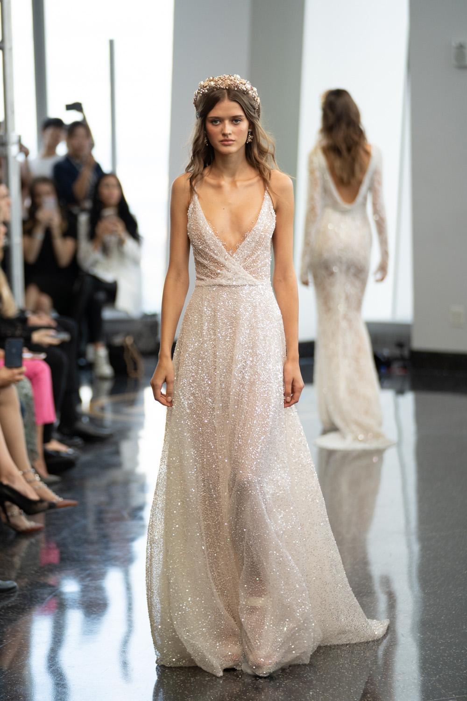 Berta Shimmer Gown