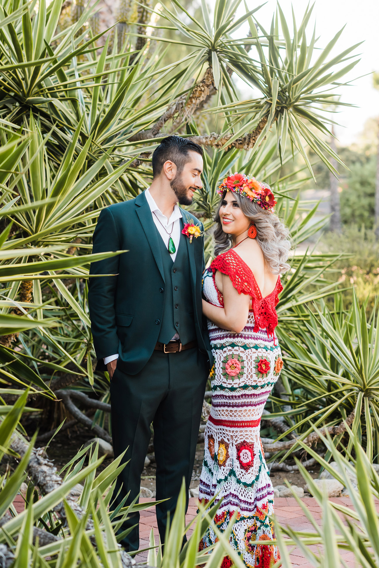 Dia de los Muertos Colorful Wedding Dress