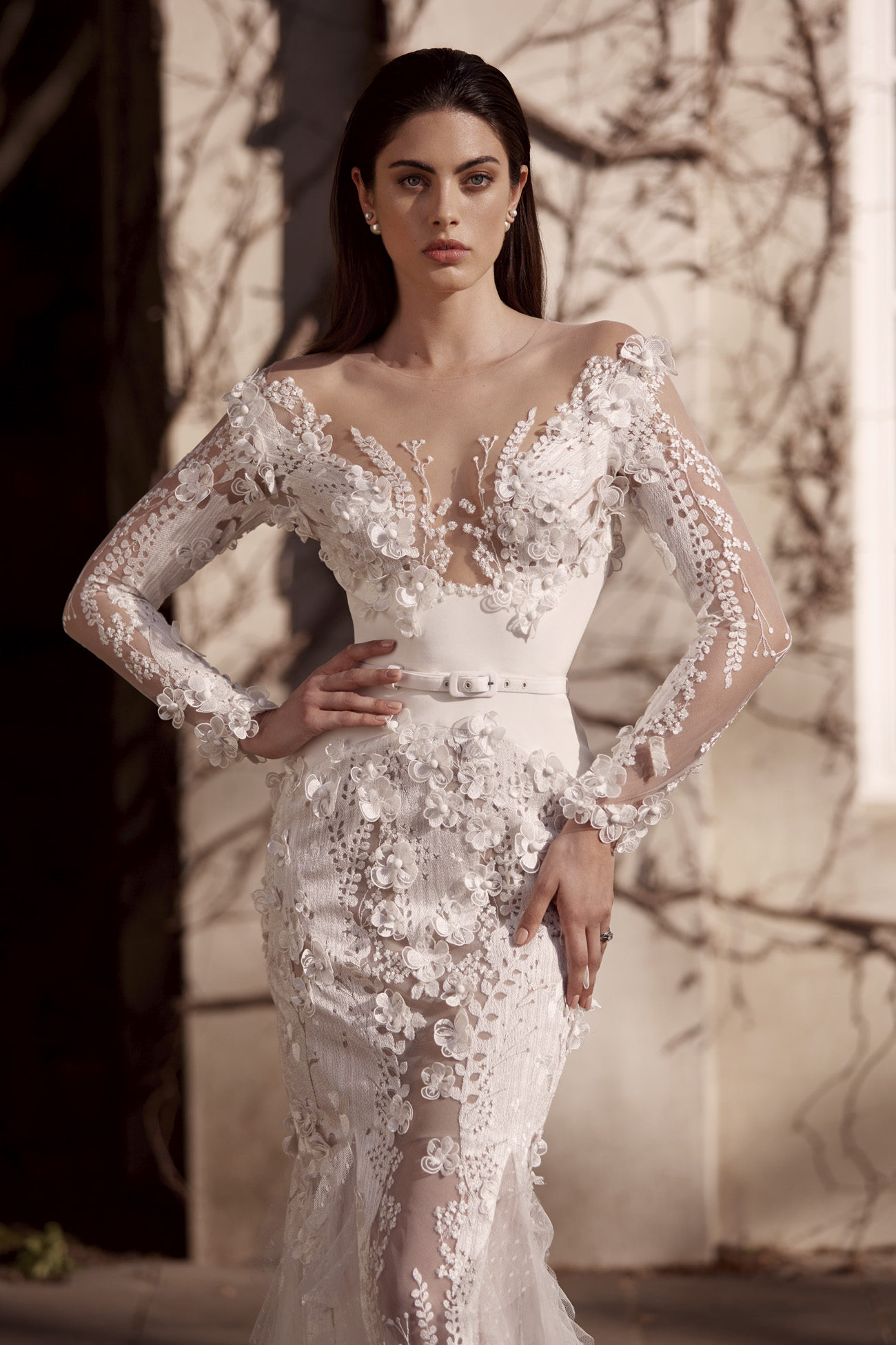 Leah Milton Lace Wedding dres