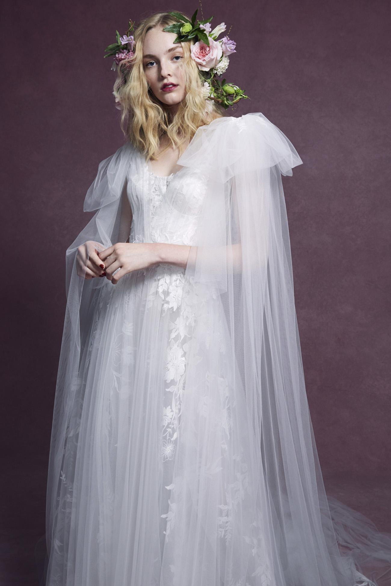 Marchesa Cape Gown