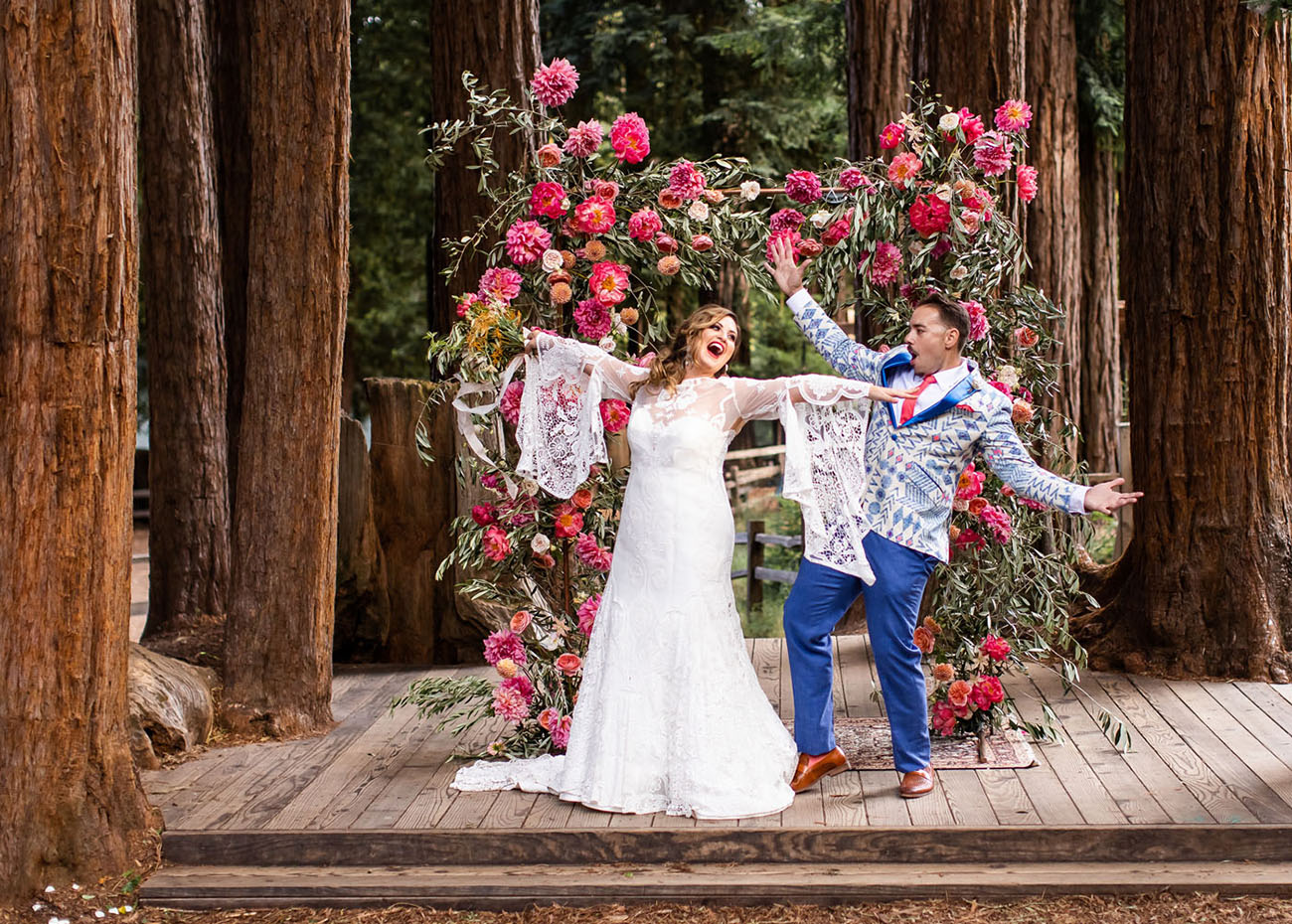 Bohemian Glamping Wedding