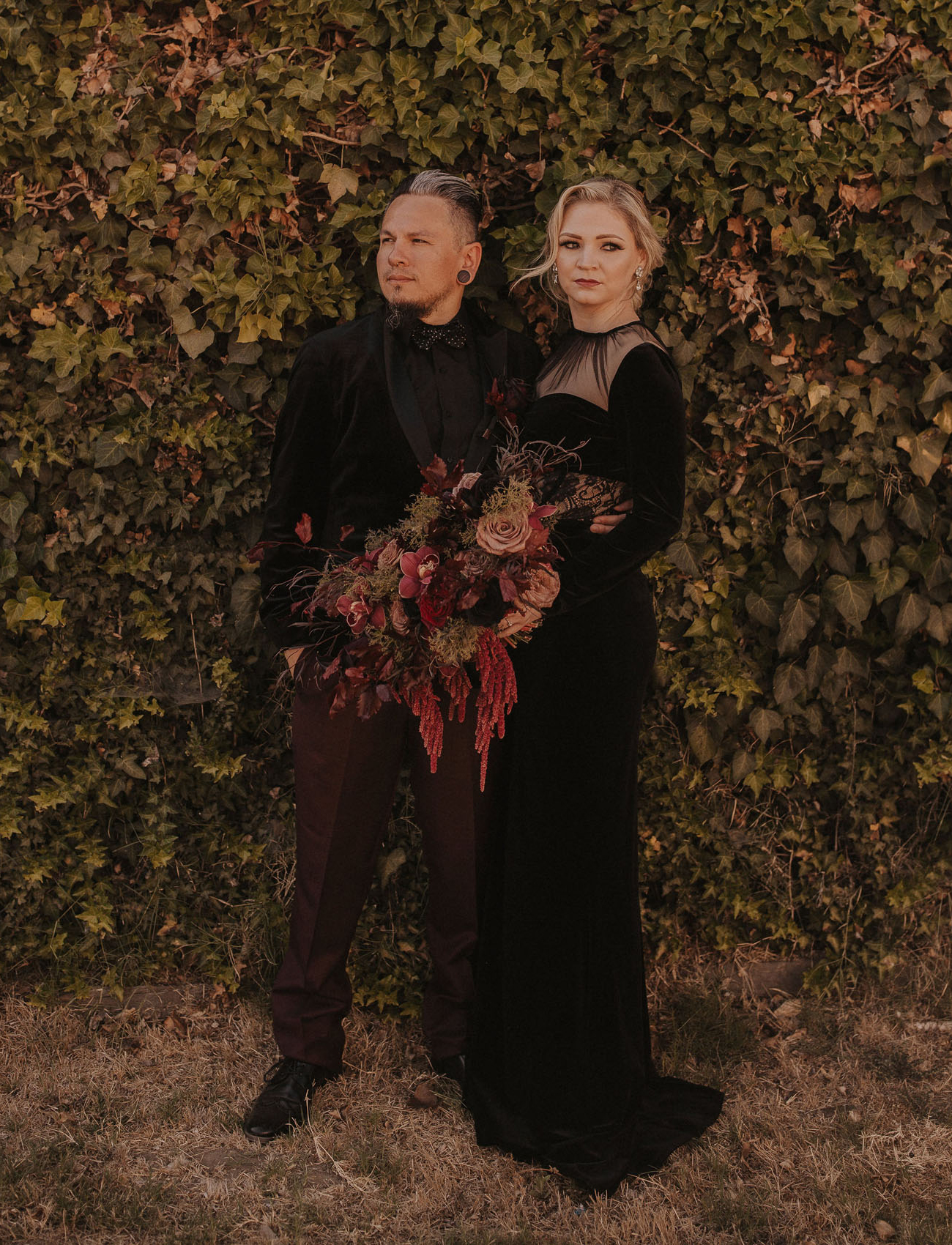 Going Gothic with this Halloween-Inspired Wedding in LA
