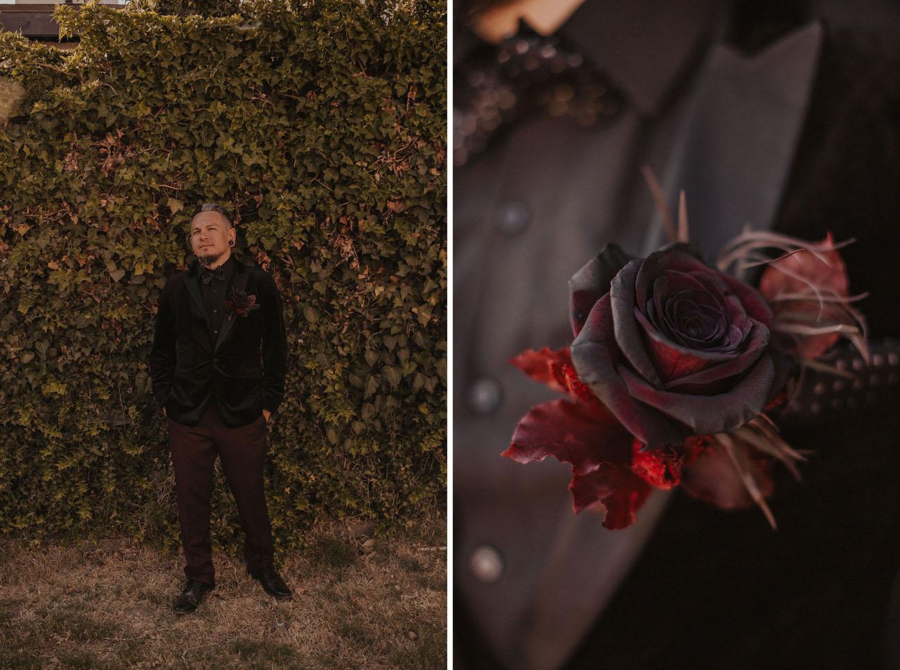 Chic Halloween-Inspired Wedding
