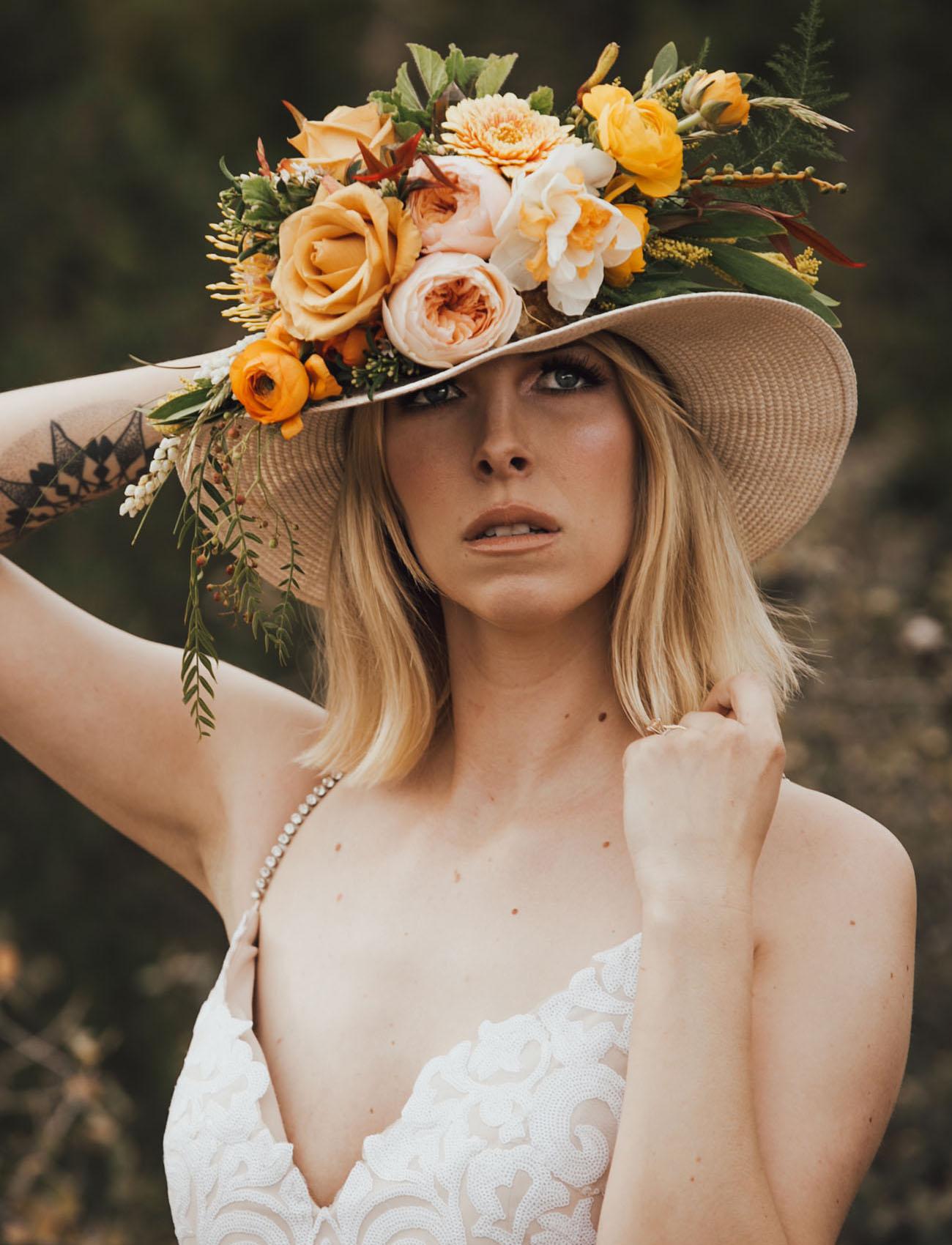 bridal flower hat