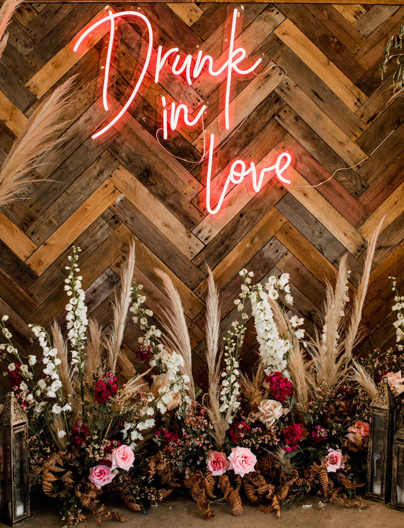 Drunk in Love Neon Wedding Sign