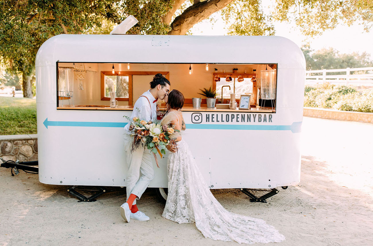 wedding trailer bar