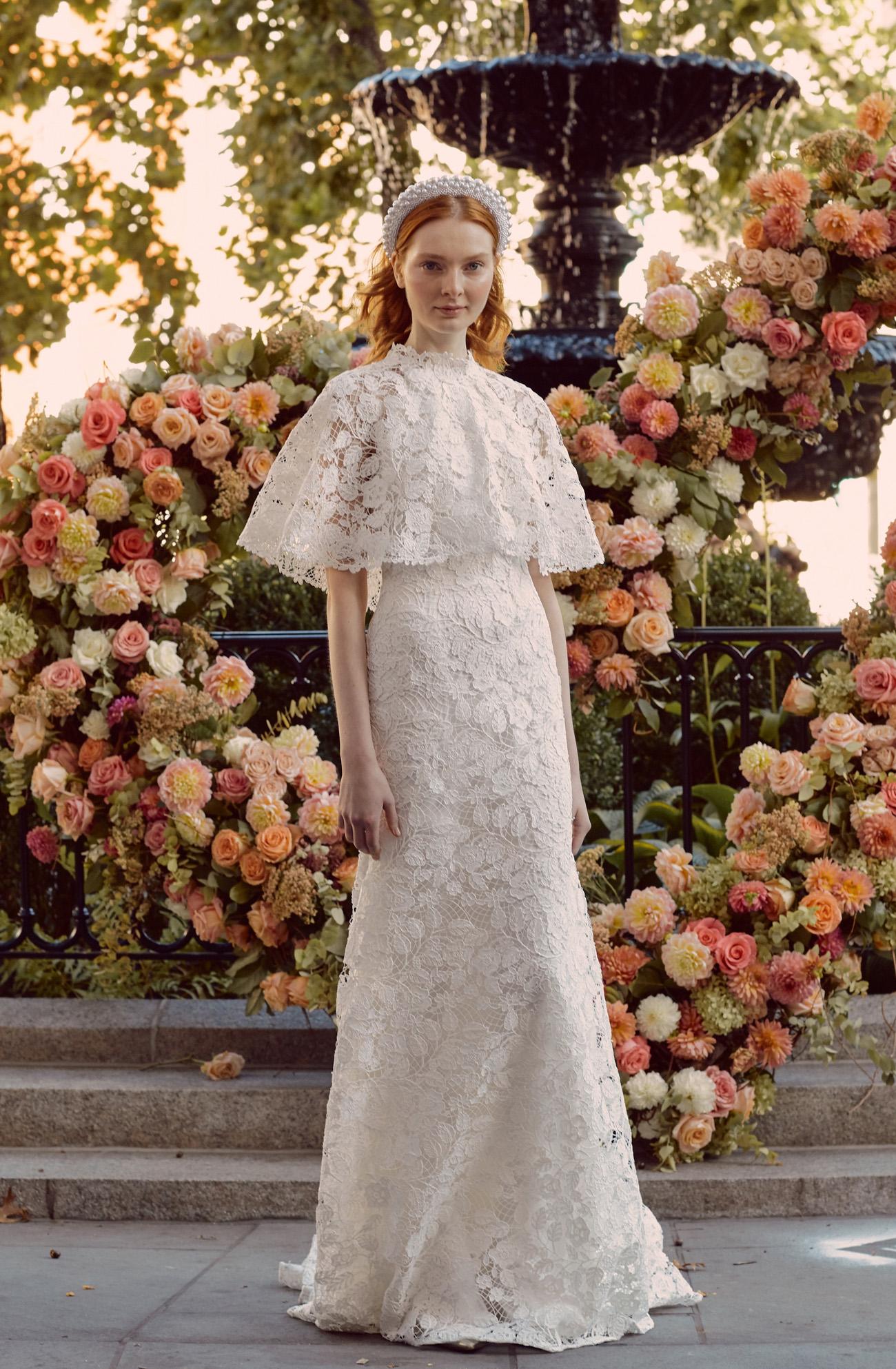 Lela Rose Lace Wedding Dress
