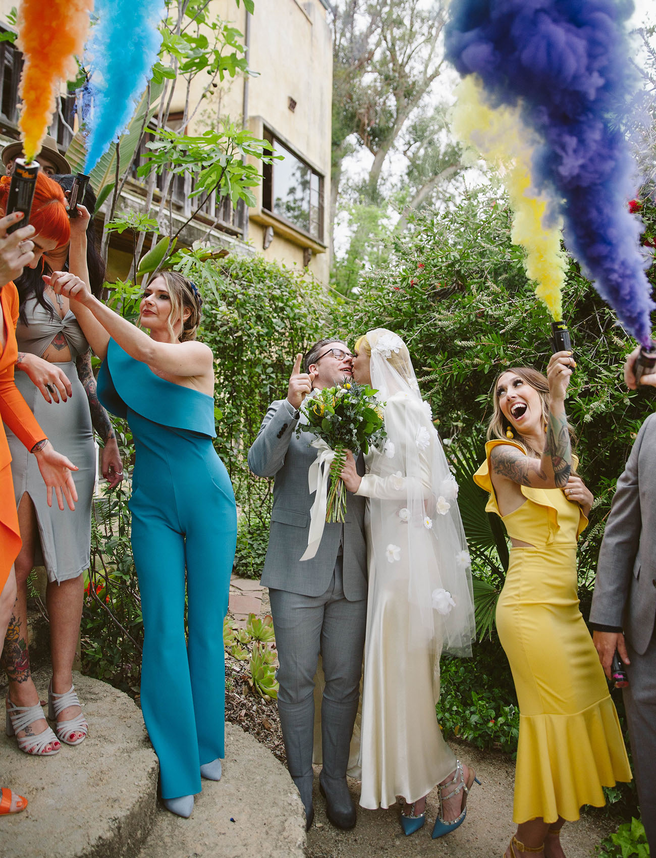 A Monochrome Rainbow Wedding at The Mountain Mermaid