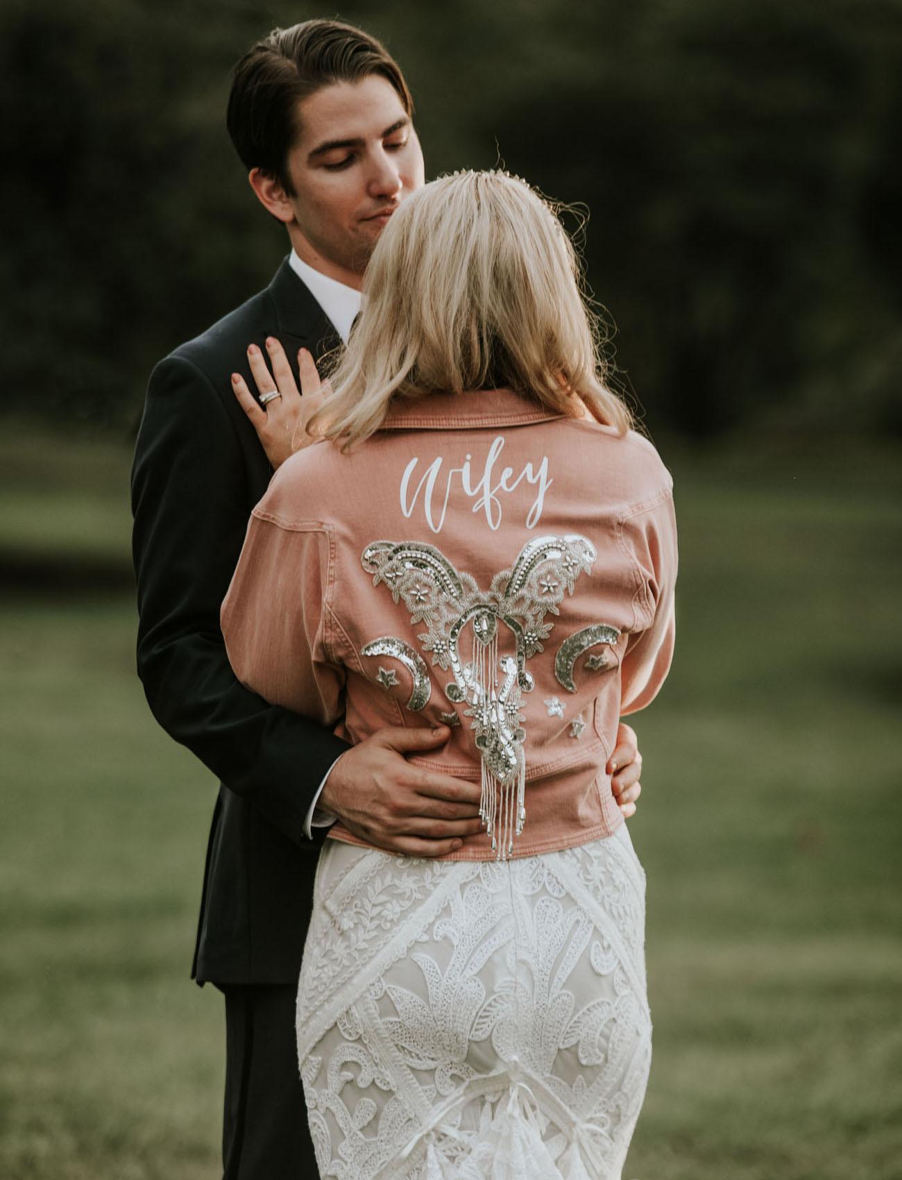 wifey bridal jacket
