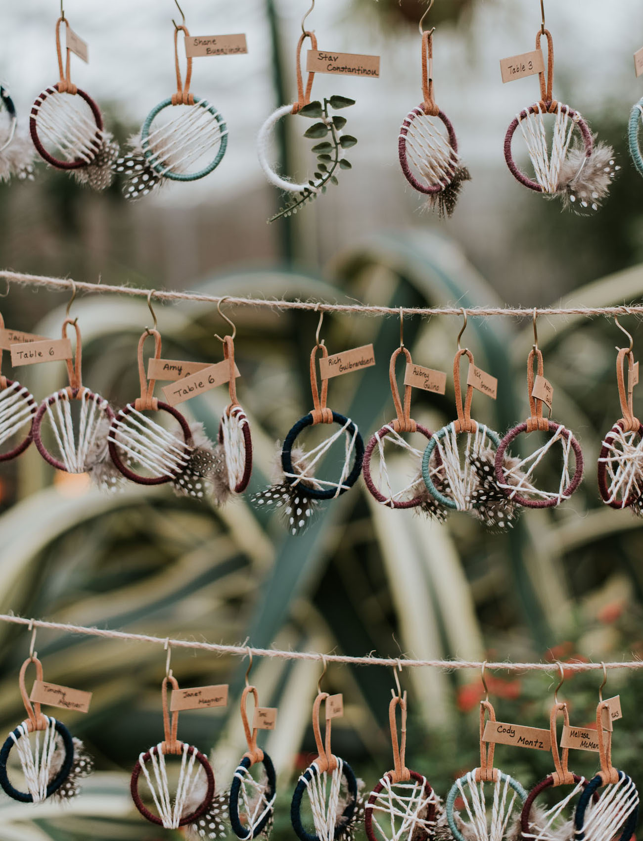 dreamcatcher escort cards