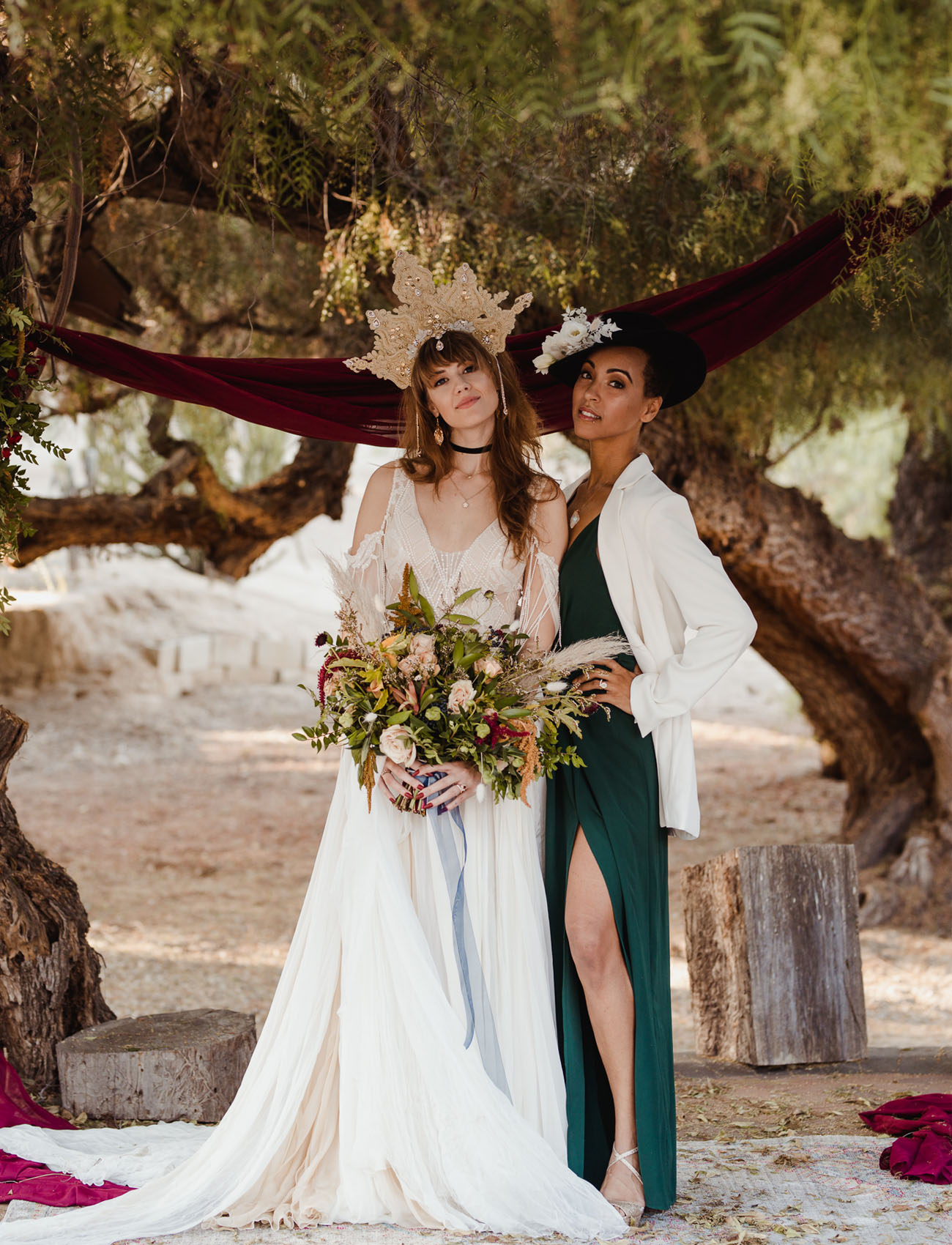 Gold Dust Women Witchy Stevie Nicks Inspired Wedding In The