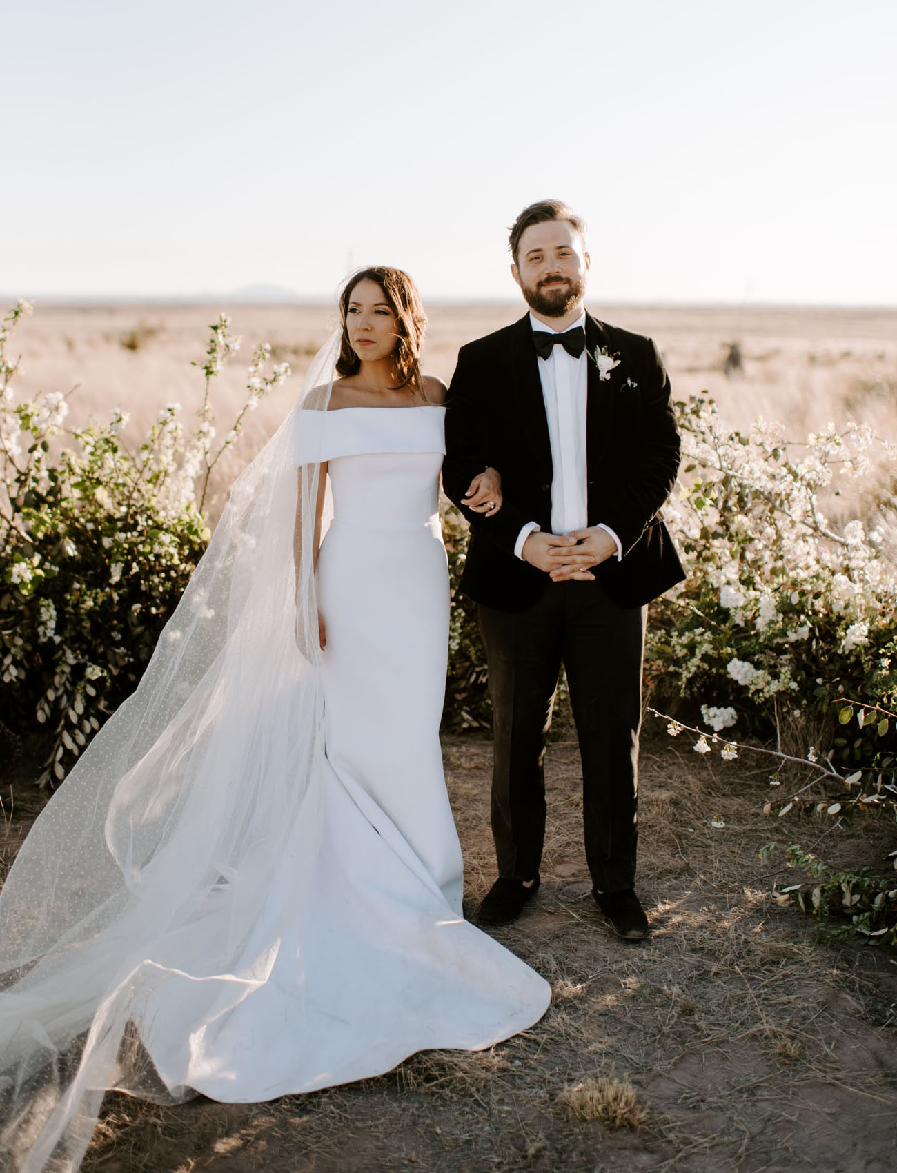 Dripping in Style: Modern B + W Wedding in Marfa, TX